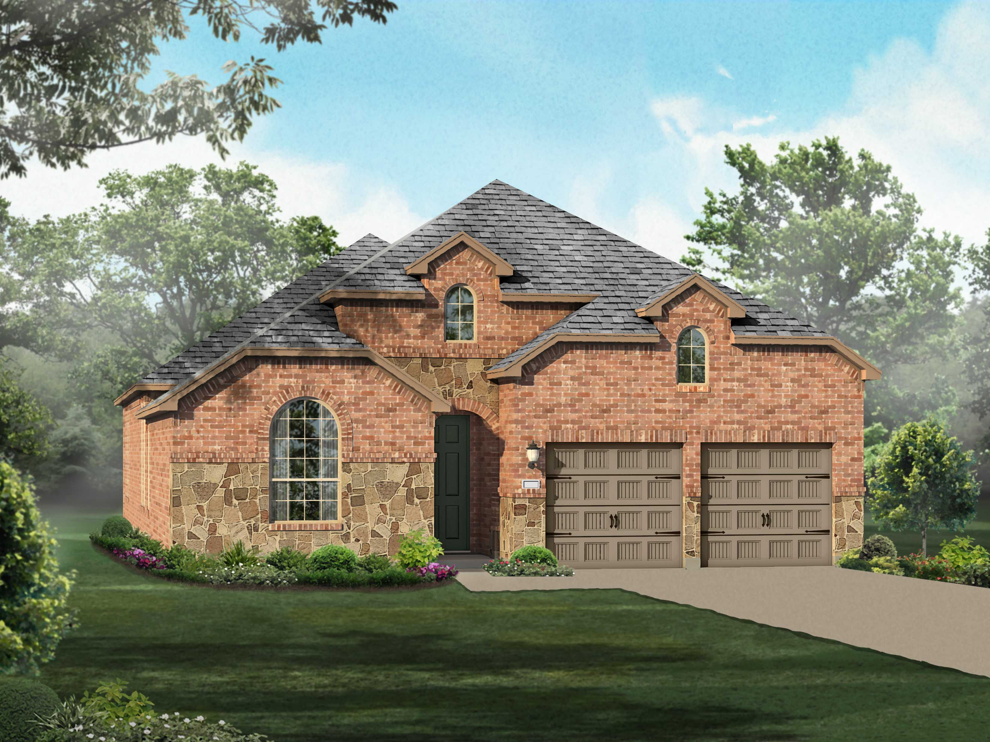 Exterior featured in the Plan 539 By Highland Homes in Fort Worth, TX