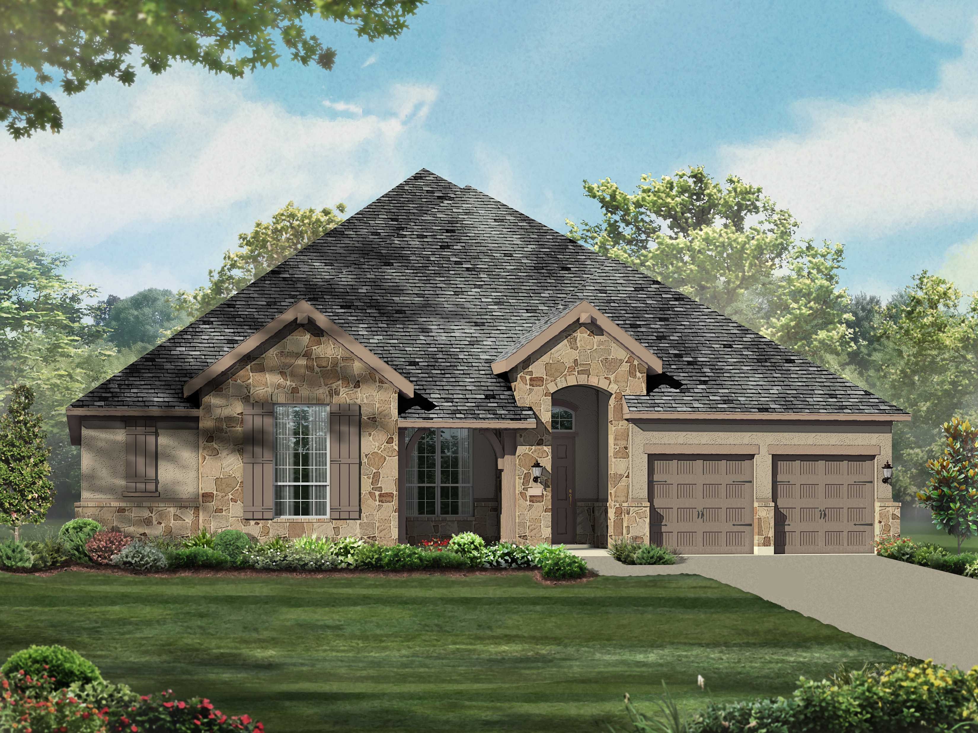 Exterior featured in the Plan 292 By Huntington Homes in Houston, TX