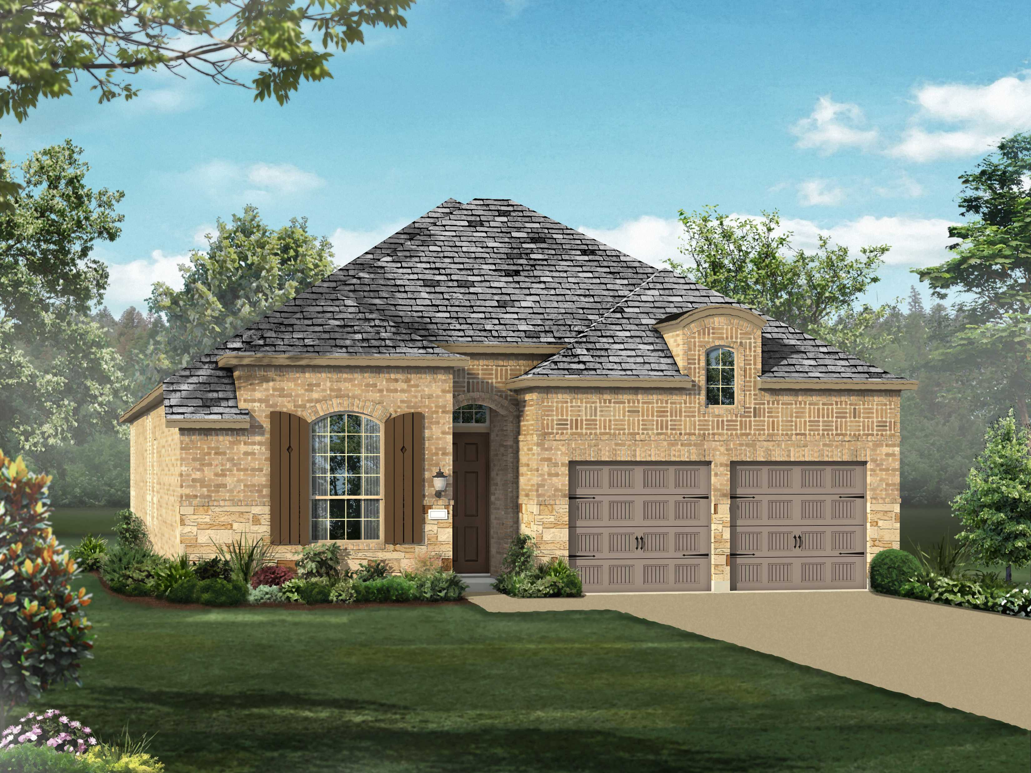 Exterior featured in the Plan 539 By Highland Homes in Dallas, TX