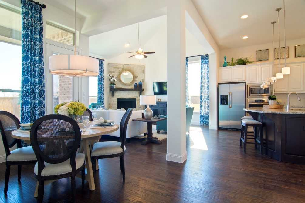 Greatroom-and-Dining-in-Plan 535-at-Front Gate in Fair Oaks Ranch: 60ft. lots-in-Fair Oaks Ranch