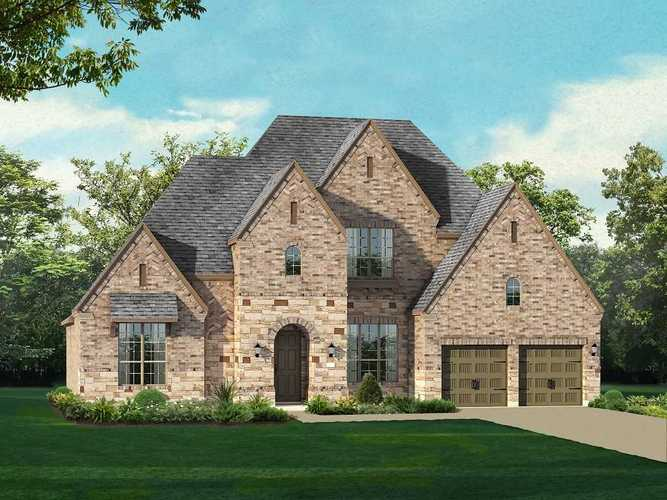 Exterior featured in the Plan 297 By Highland Homes in Dallas, TX