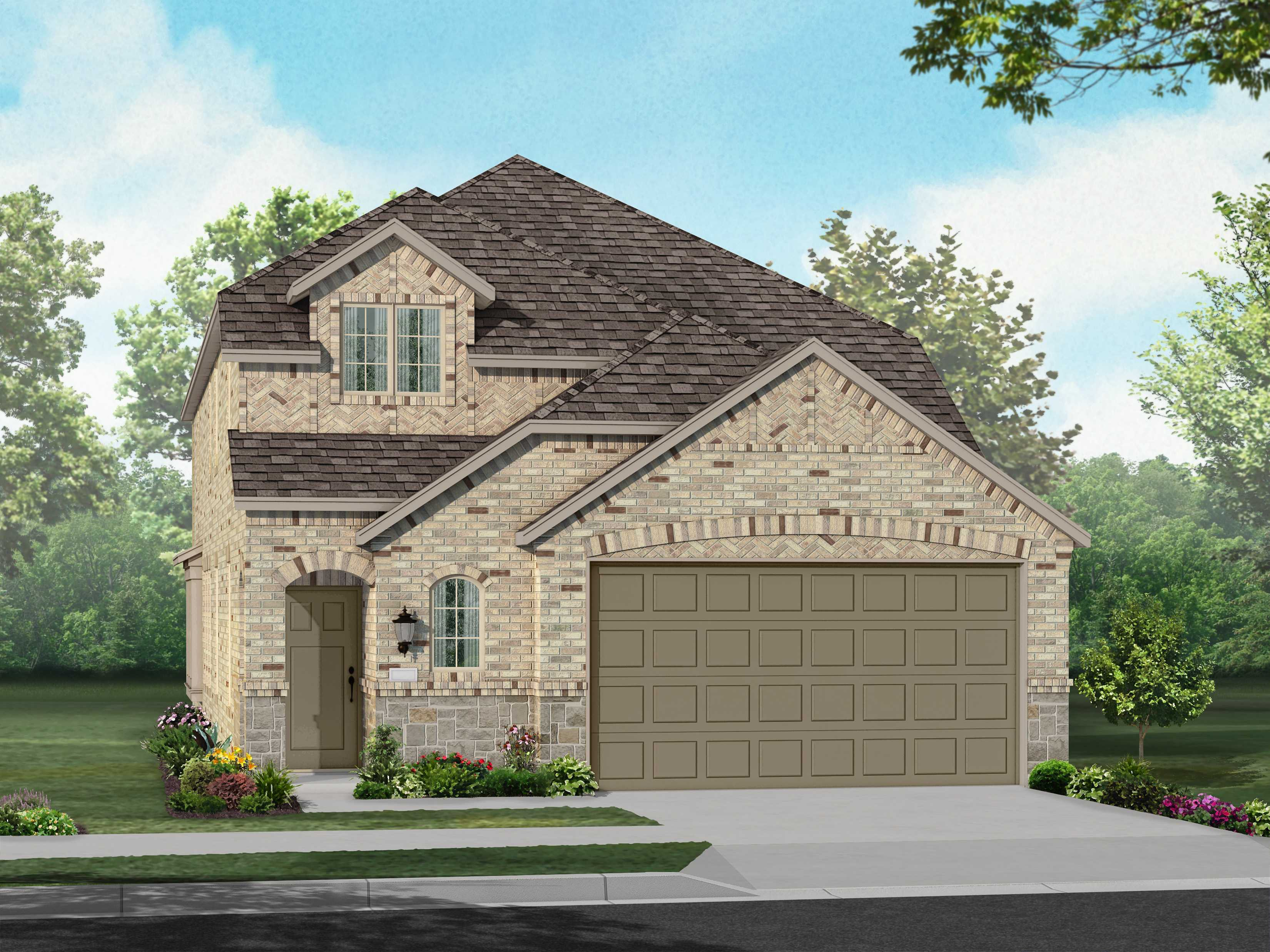 Exterior featured in the Plan Ellington By Highland Homes in Dallas, TX