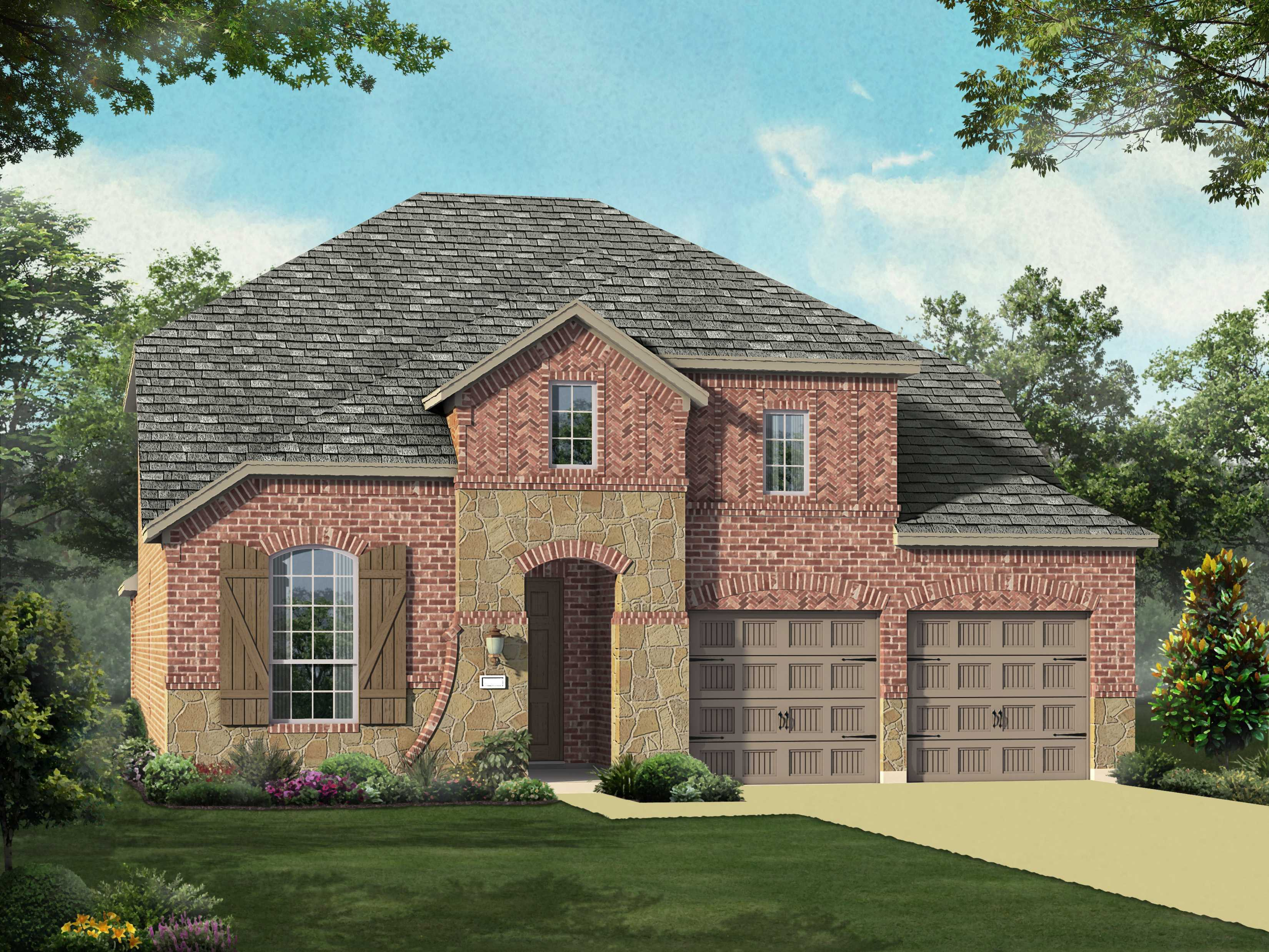 Exterior featured in the Plan 558H By Highland Homes in Fort Worth, TX