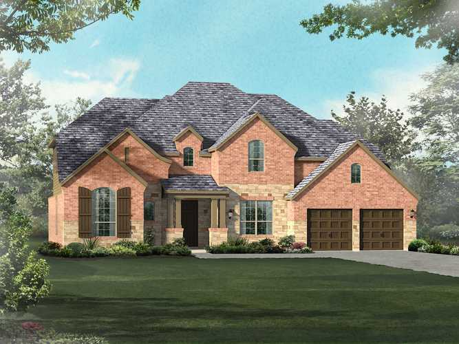 Exterior featured in the Plan 267 By Highland Homes in Dallas, TX