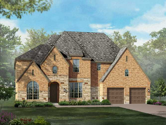 Exterior featured in the Plan 294 By Highland Homes in Dallas, TX