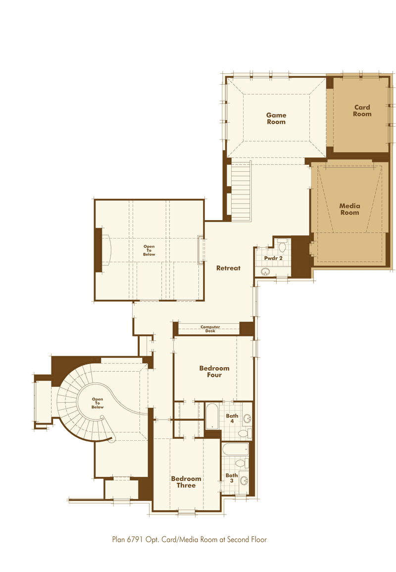 Plan 6791 Home Plan by Huntington Homes in Windsong Ranch