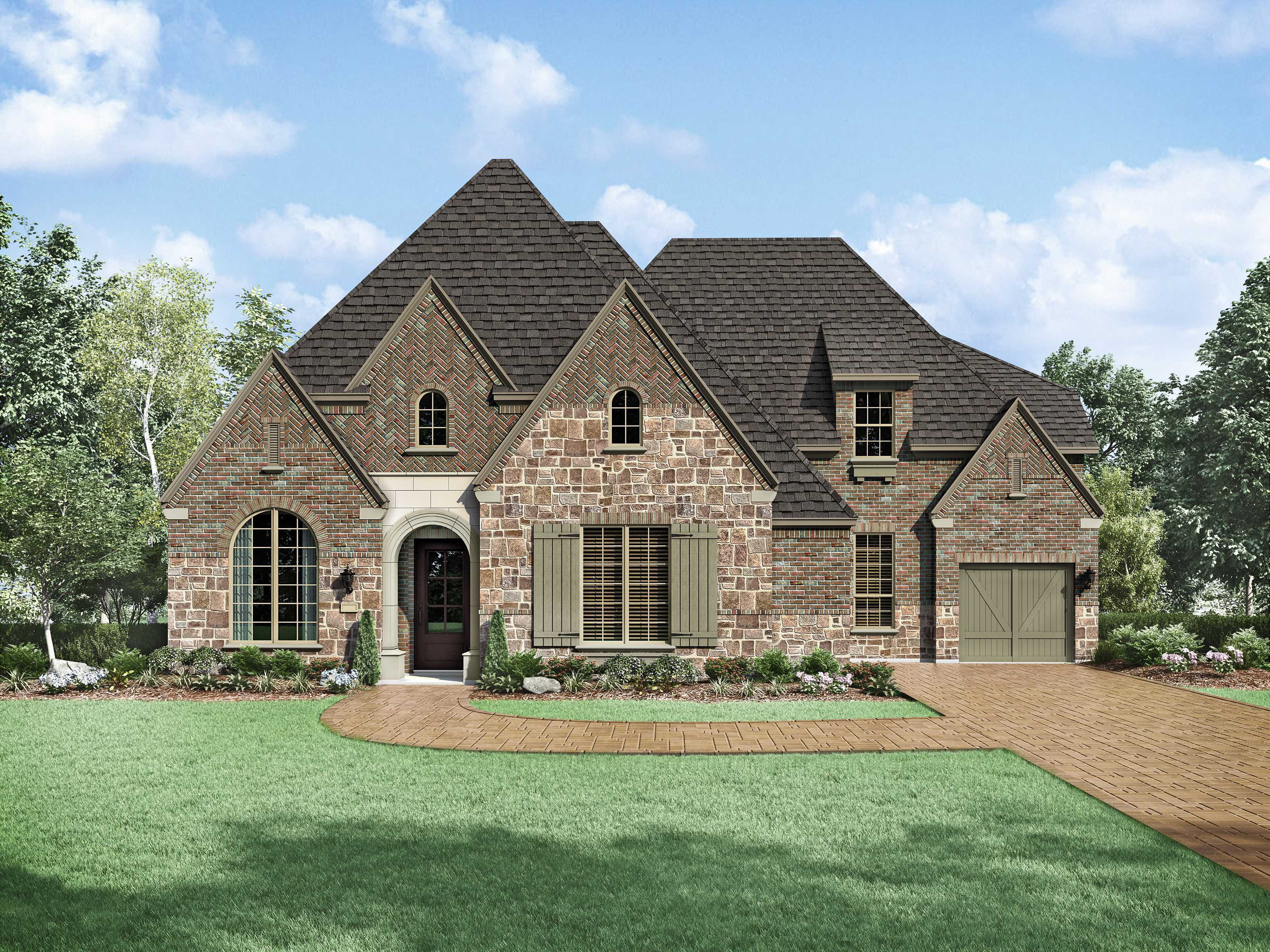 Exterior featured in the Plan 6181 By Huntington Homes in Dallas, TX