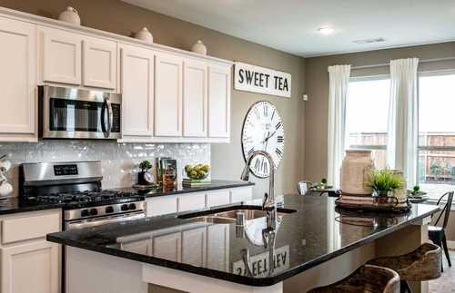 Kitchen-in-Plan Richmond-at-Jordan Ranch: 55ft. lots-in-Fulshear