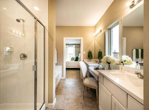 Bathroom-in-Plan Richmond-at-Highlands at Mayfield Ranch: 60ft. lots-in-Round Rock