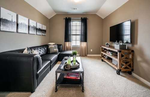 Media-Room-in-Plan Richmond-at-Highlands at Mayfield Ranch: 60ft. lots-in-Round Rock