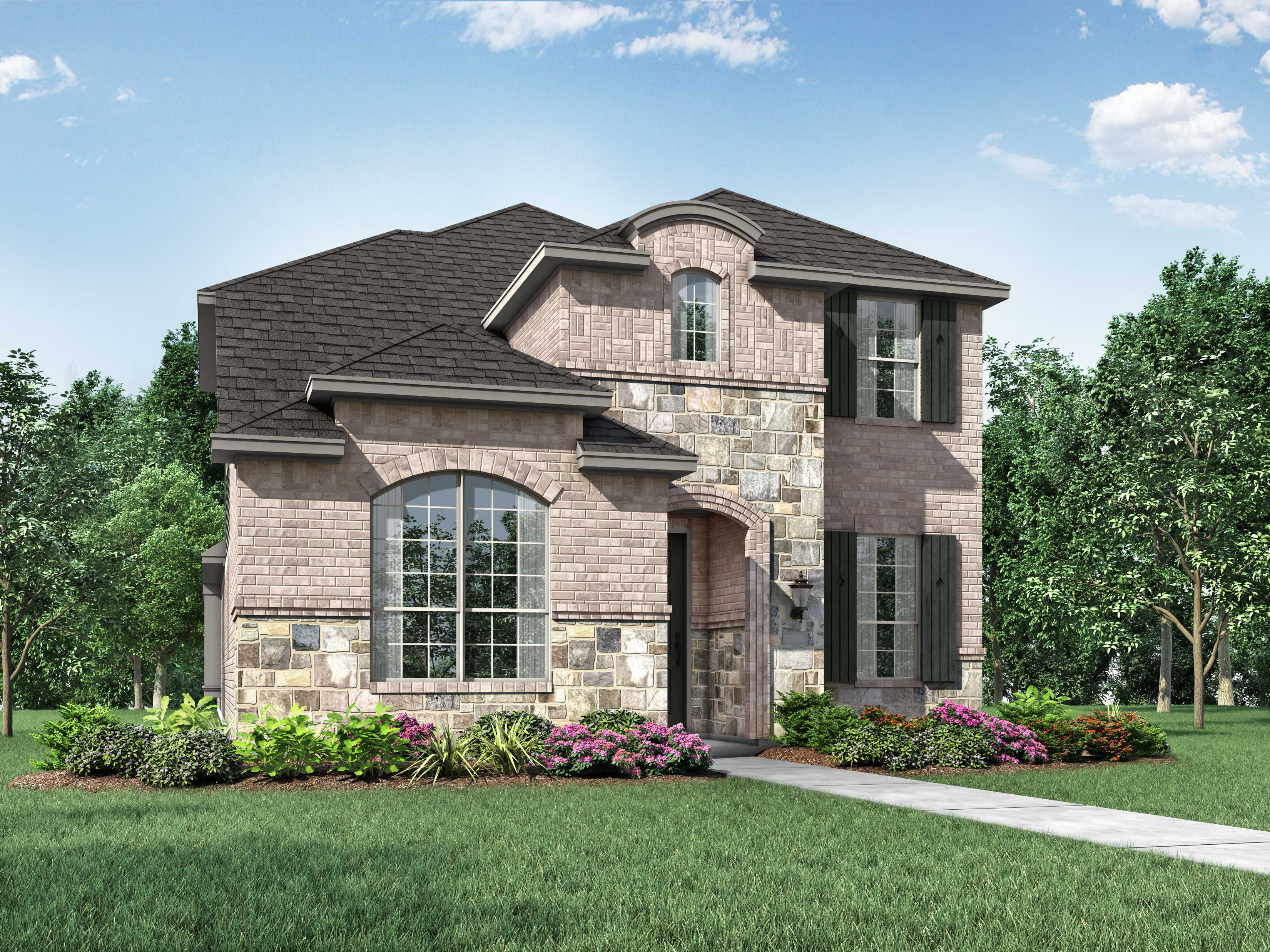 Exterior featured in the Plan 306 By Highland Homes in Dallas, TX