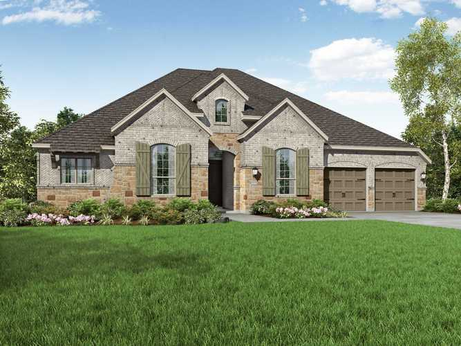Exterior featured in the Plan 271 By Highland Homes in Dallas, TX