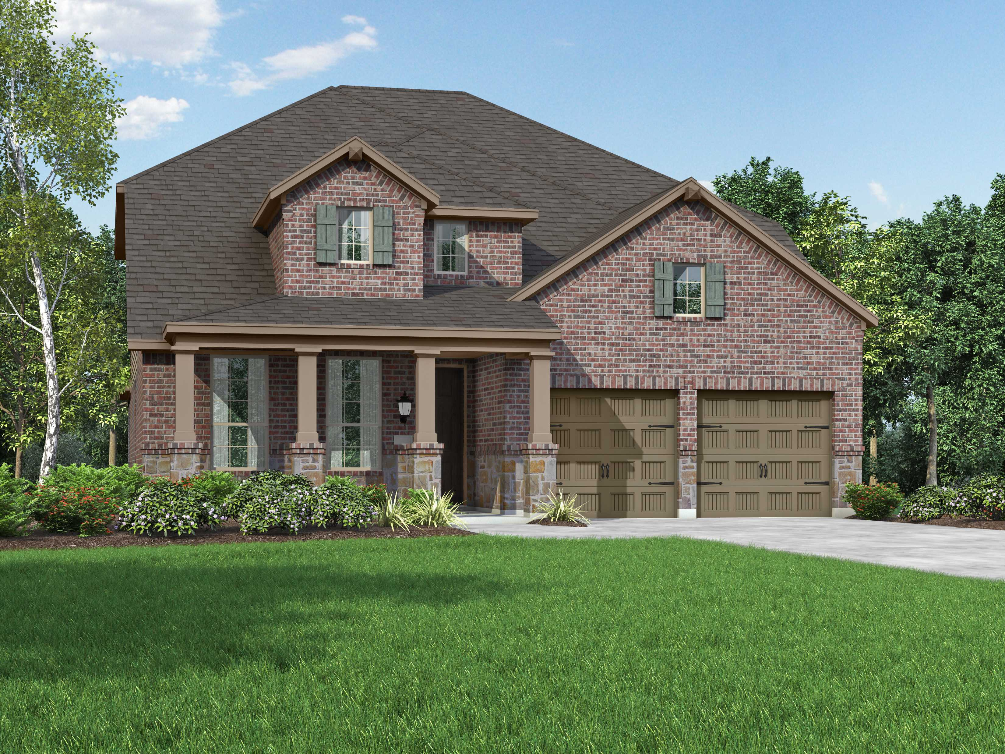 Exterior featured in the Plan 559H By Highland Homes in San Antonio, TX