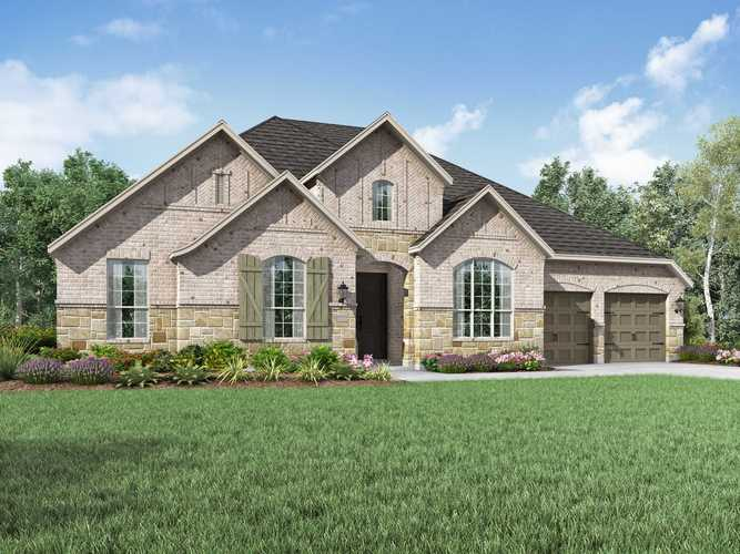 Exterior featured in the Plan 274 By Highland Homes in Dallas, TX