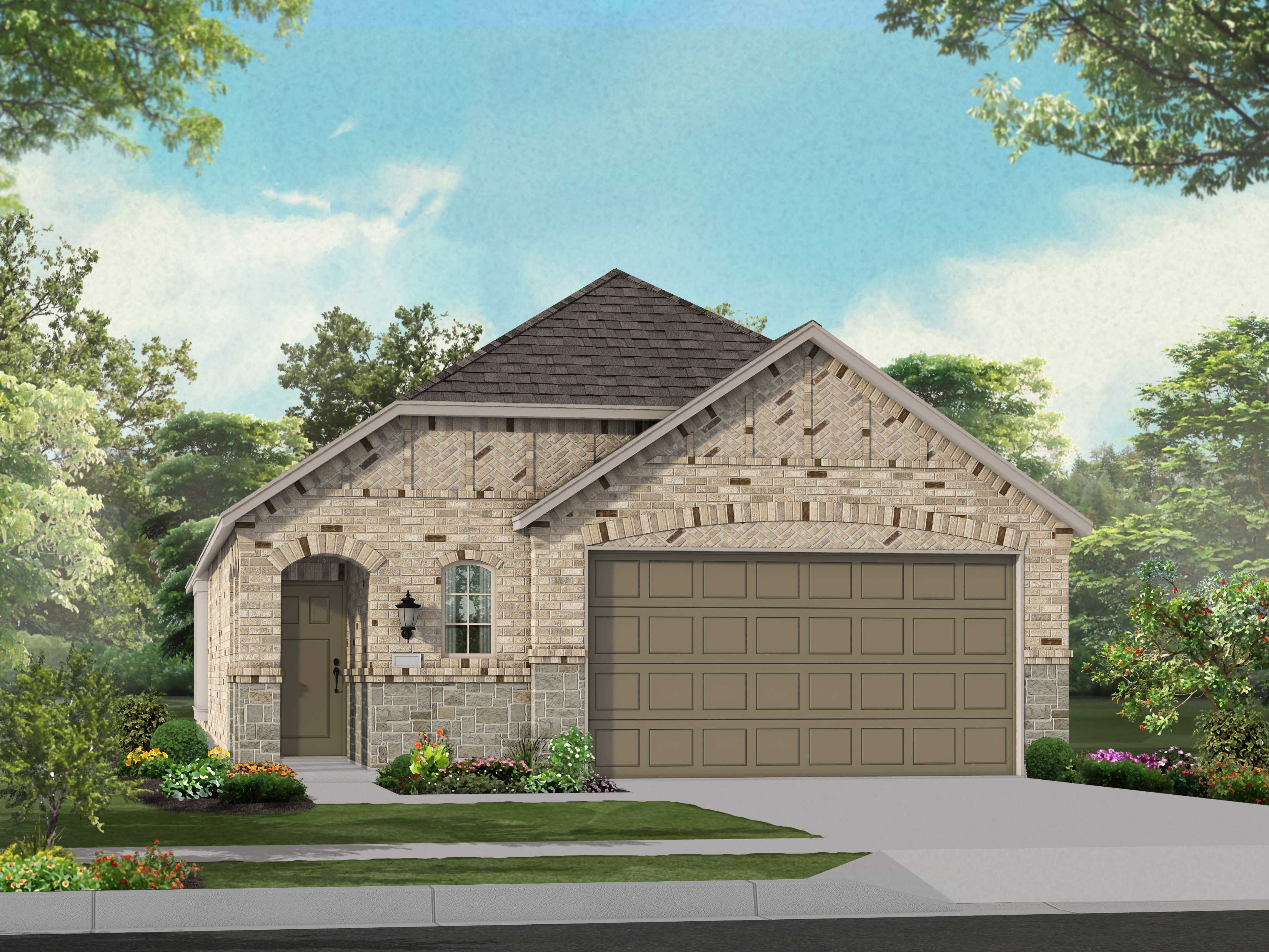 Exterior featured in the Plan Corby By Highland Homes in Houston, TX