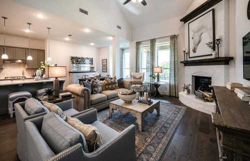 Greatroom-and-Dining-in-Plan Waverley-at-Parkside - Celina-in-Celina