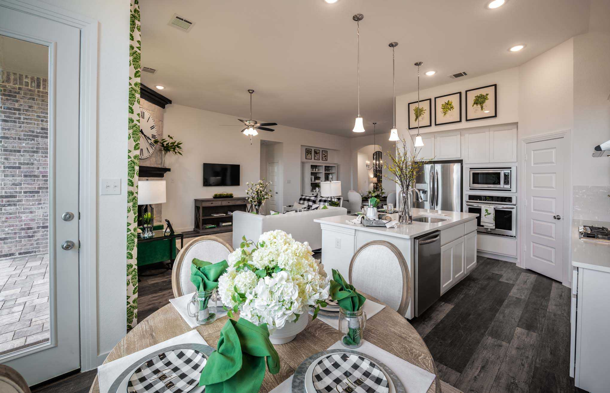 Greatroom-and-Dining-in-Plan Dorchester-at-Davis Ranch: 50ft. lots-in-San Antonio