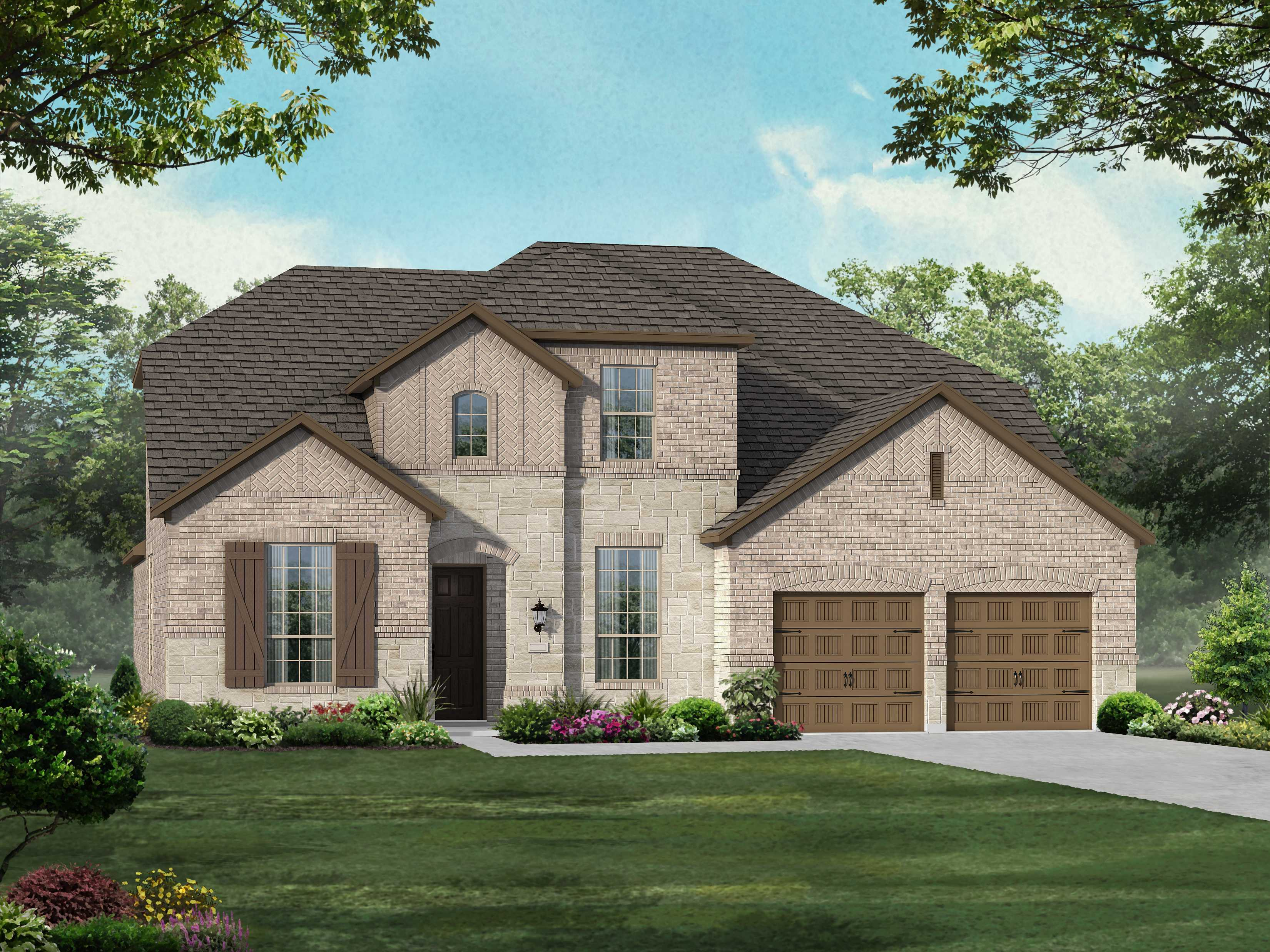 Exterior featured in the Plan 208 By Highland Homes in Dallas, TX