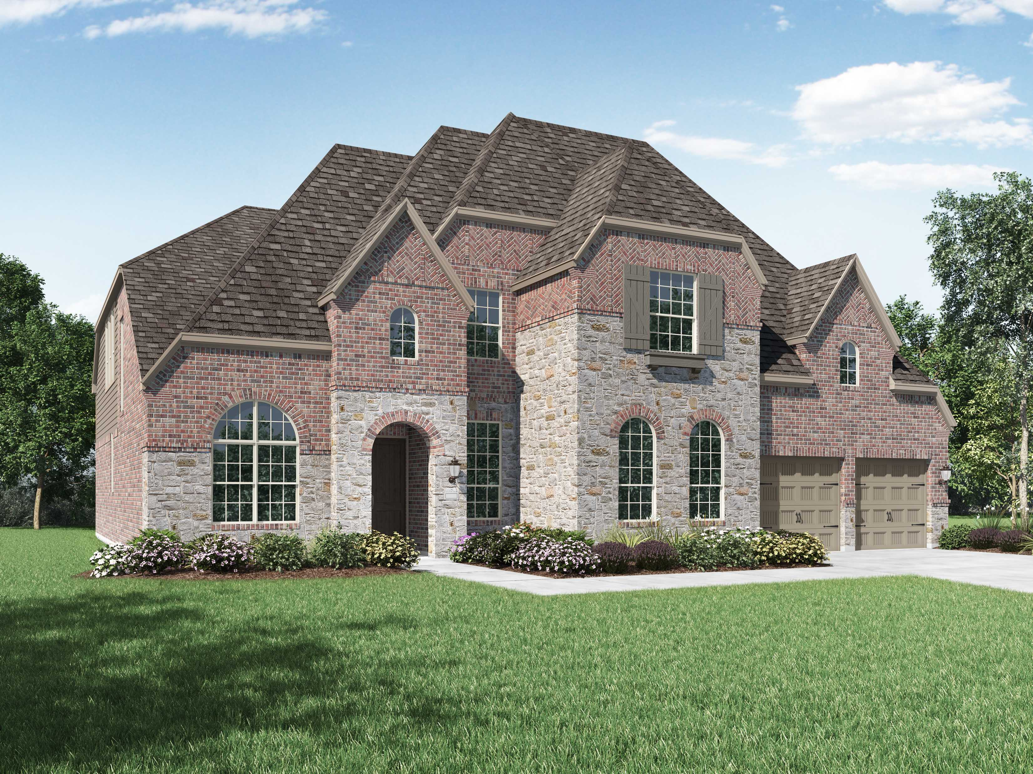 Exterior featured in the Plan 277 By Highland Homes in Dallas, TX