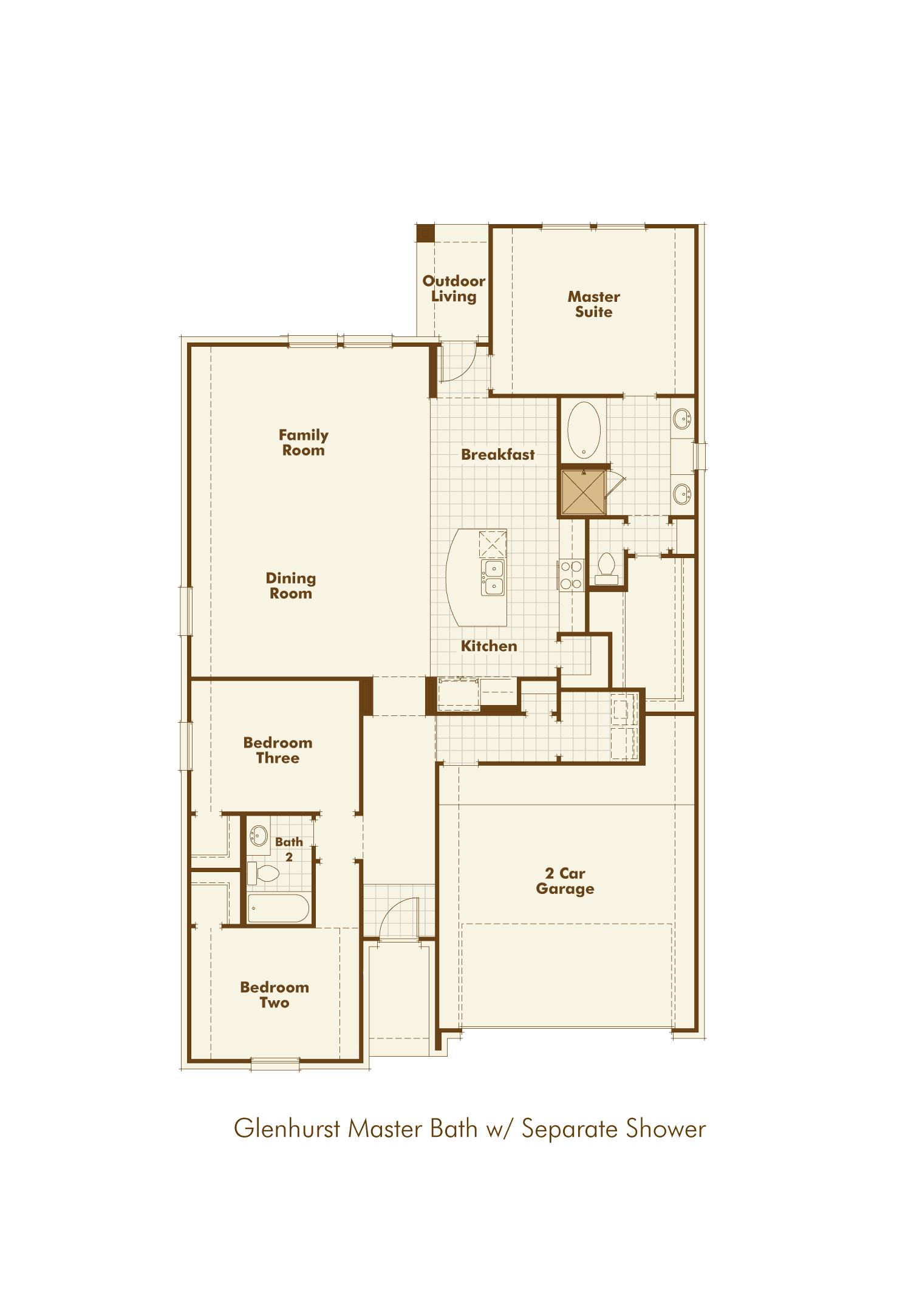 Plan Glenhurst Model At 1428 Darlington Lane