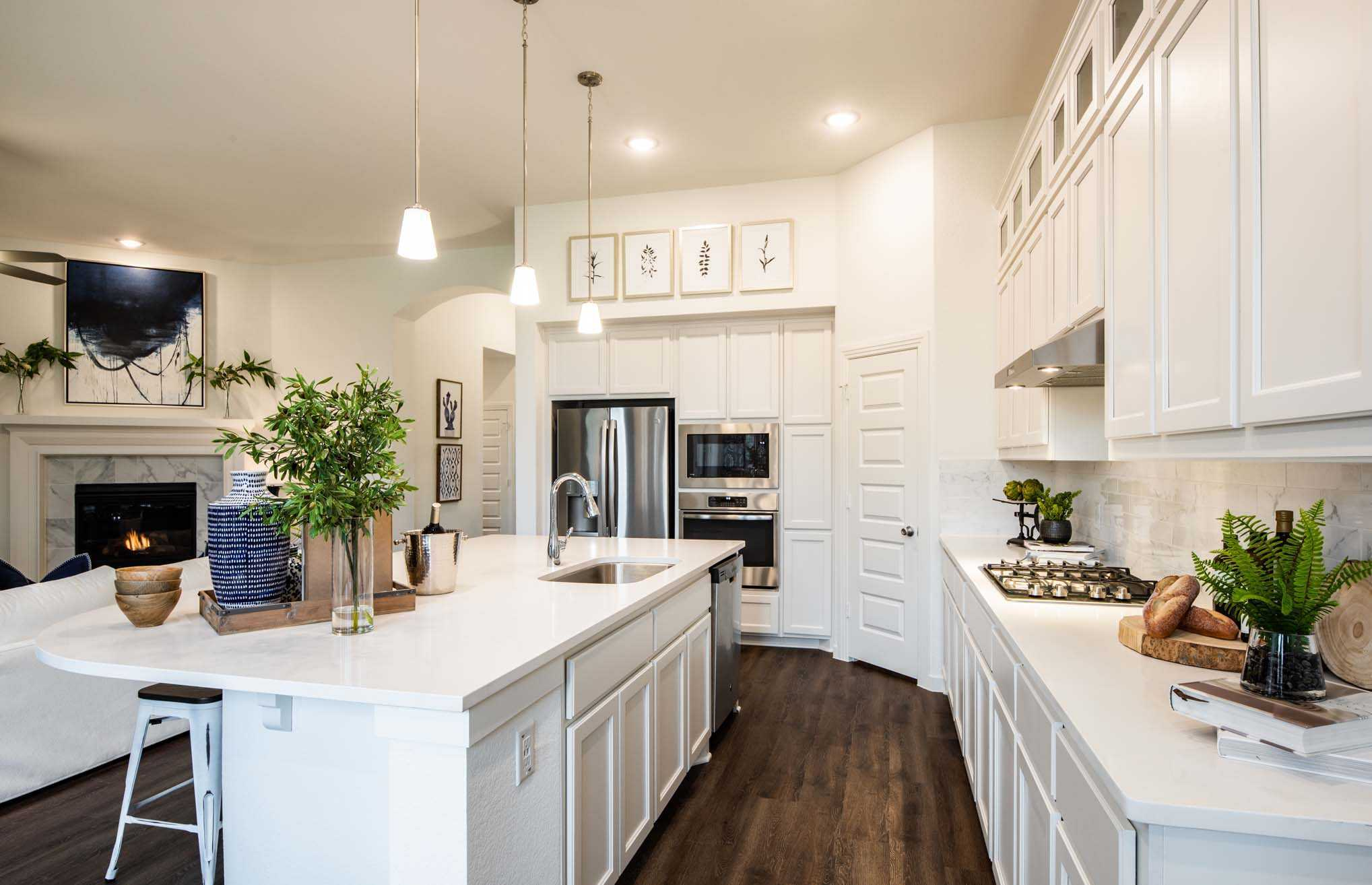 Kitchen-in-Plan Amberley-at-Sandbrock Ranch: 50ft. lots-in-Aubrey