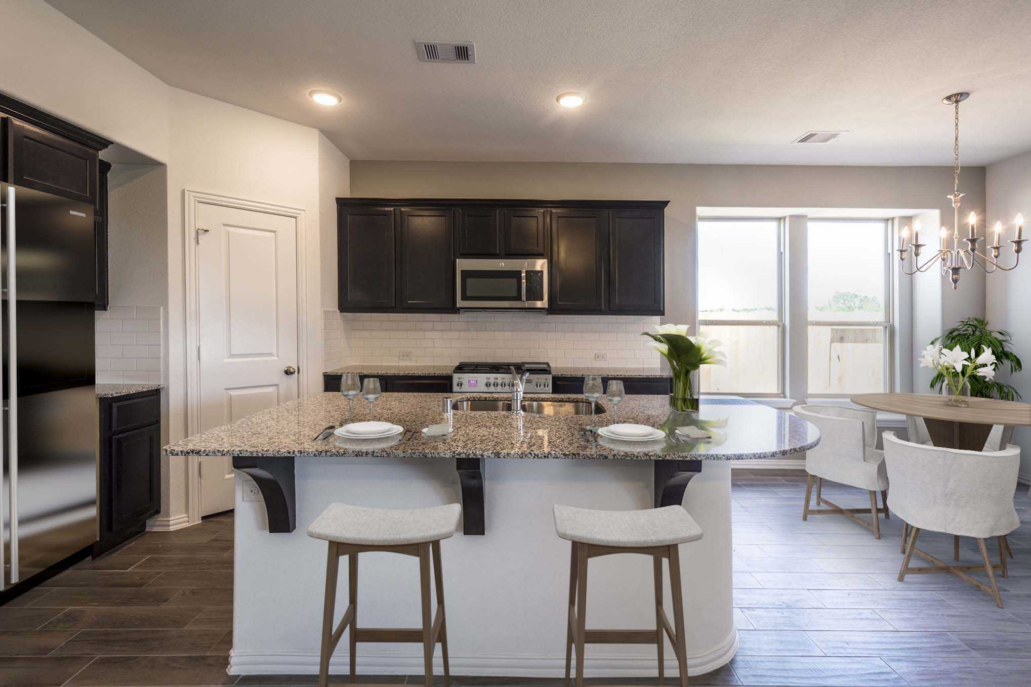 Kitchen featured in the Plan Lyndhurst By Highland Homes in Houston, TX