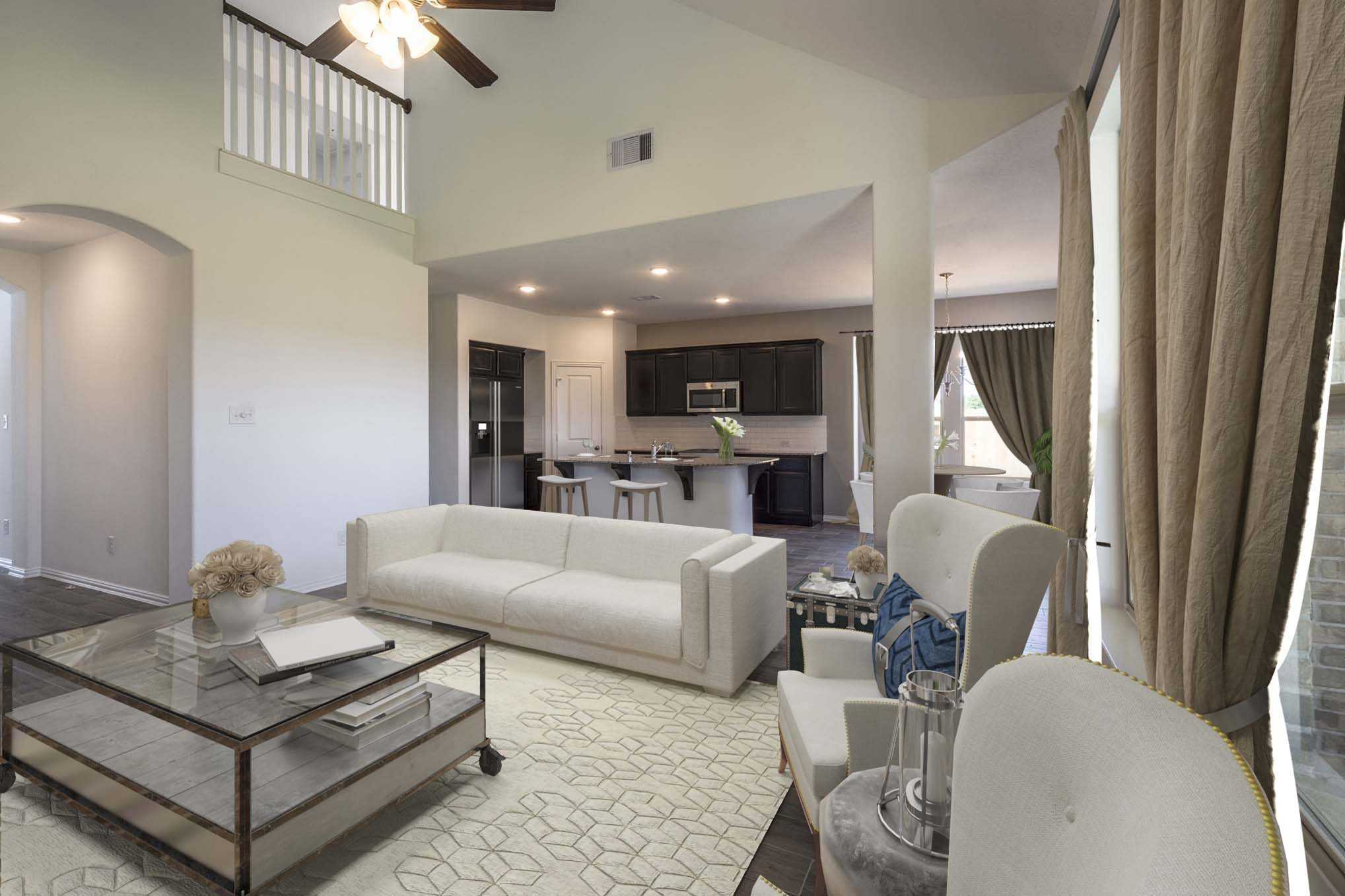 Living Area featured in the Plan Lyndhurst By Highland Homes in Houston, TX