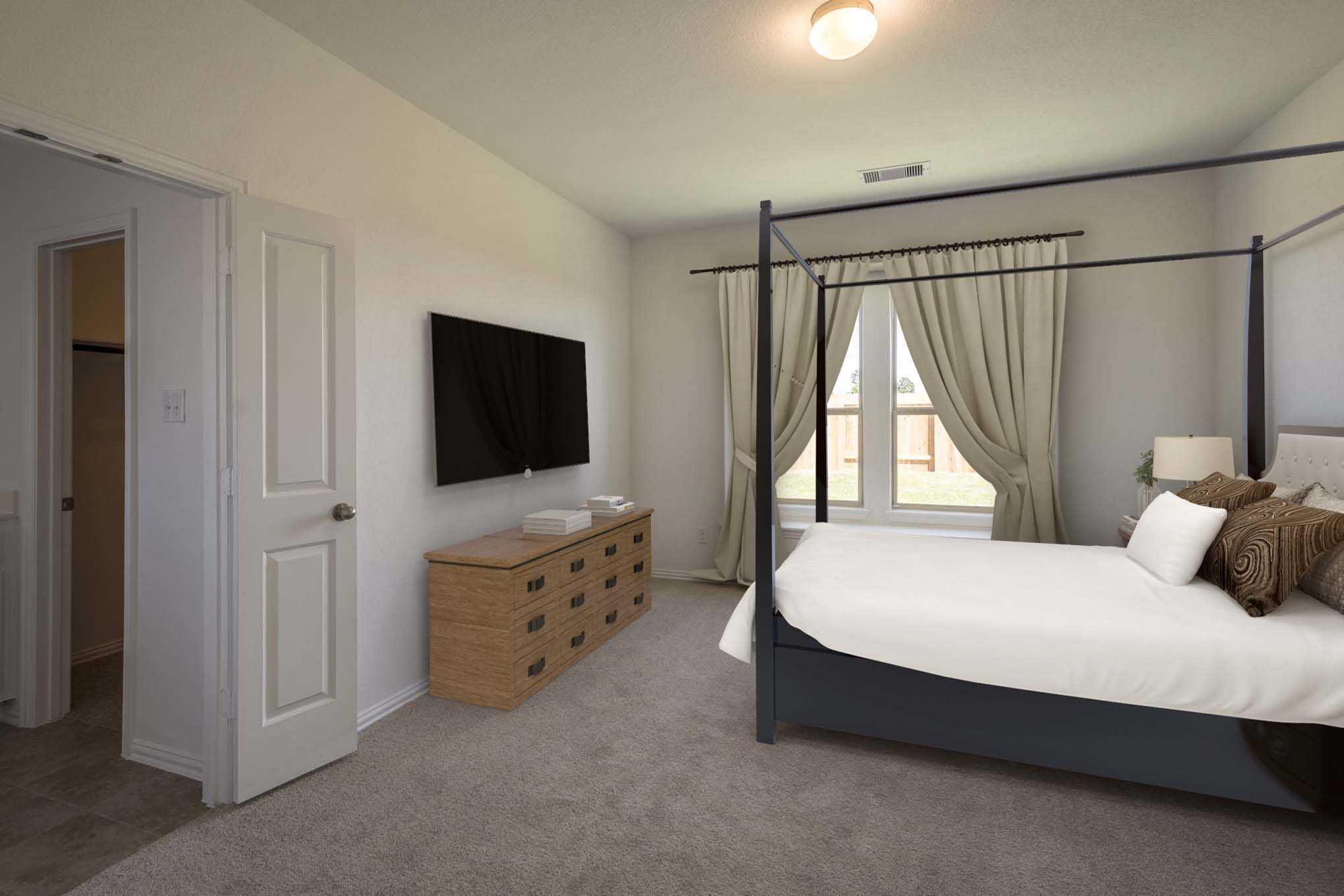 Bedroom featured in the Plan Lyndhurst By Highland Homes in Houston, TX