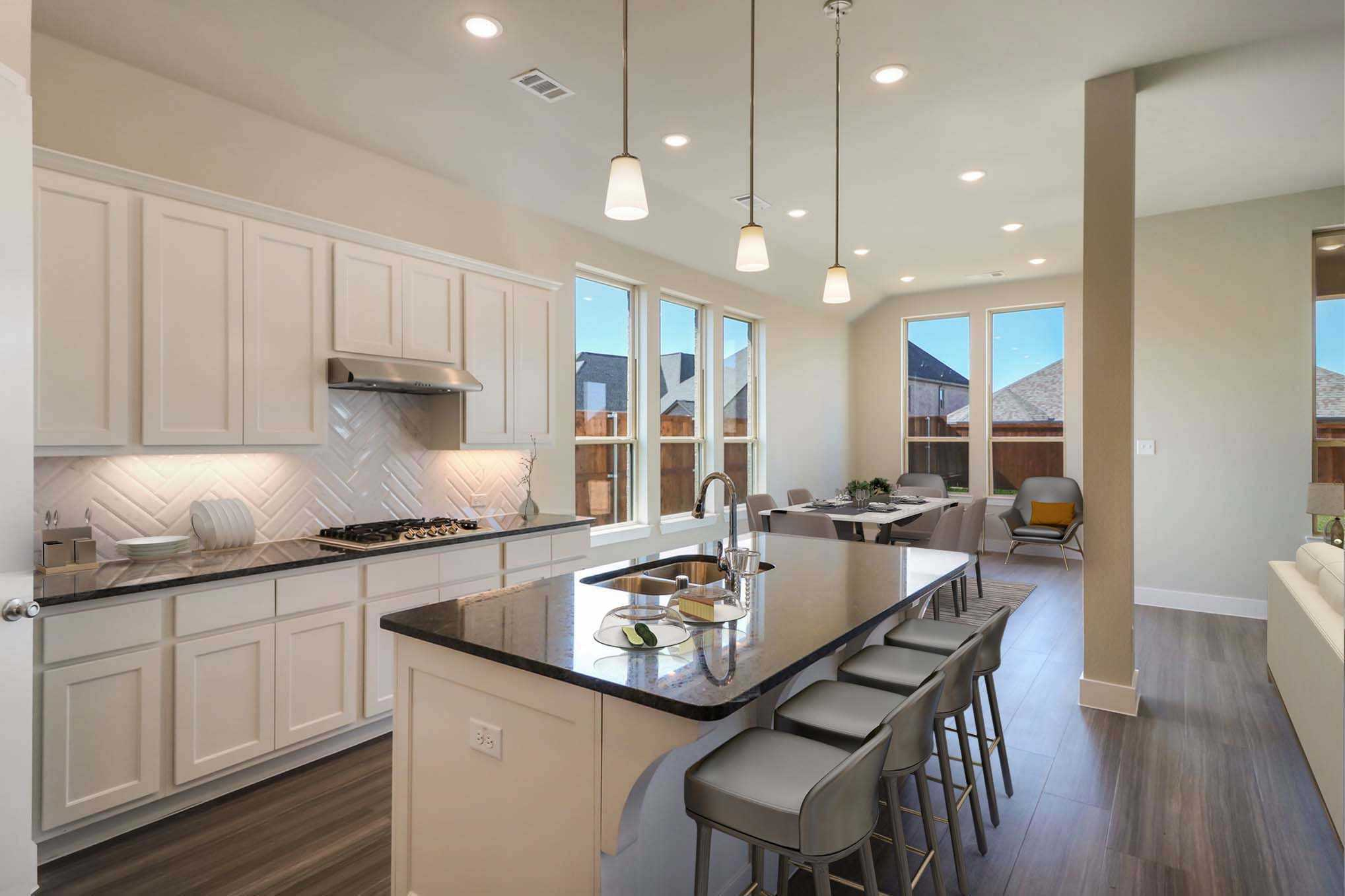 Kitchen featured in the Plan Milton By Highland Homes in Dallas, TX