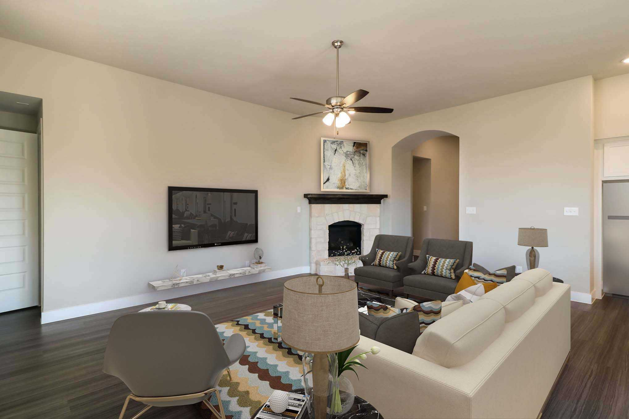 Living Area featured in the Plan Milton By Highland Homes in Dallas, TX