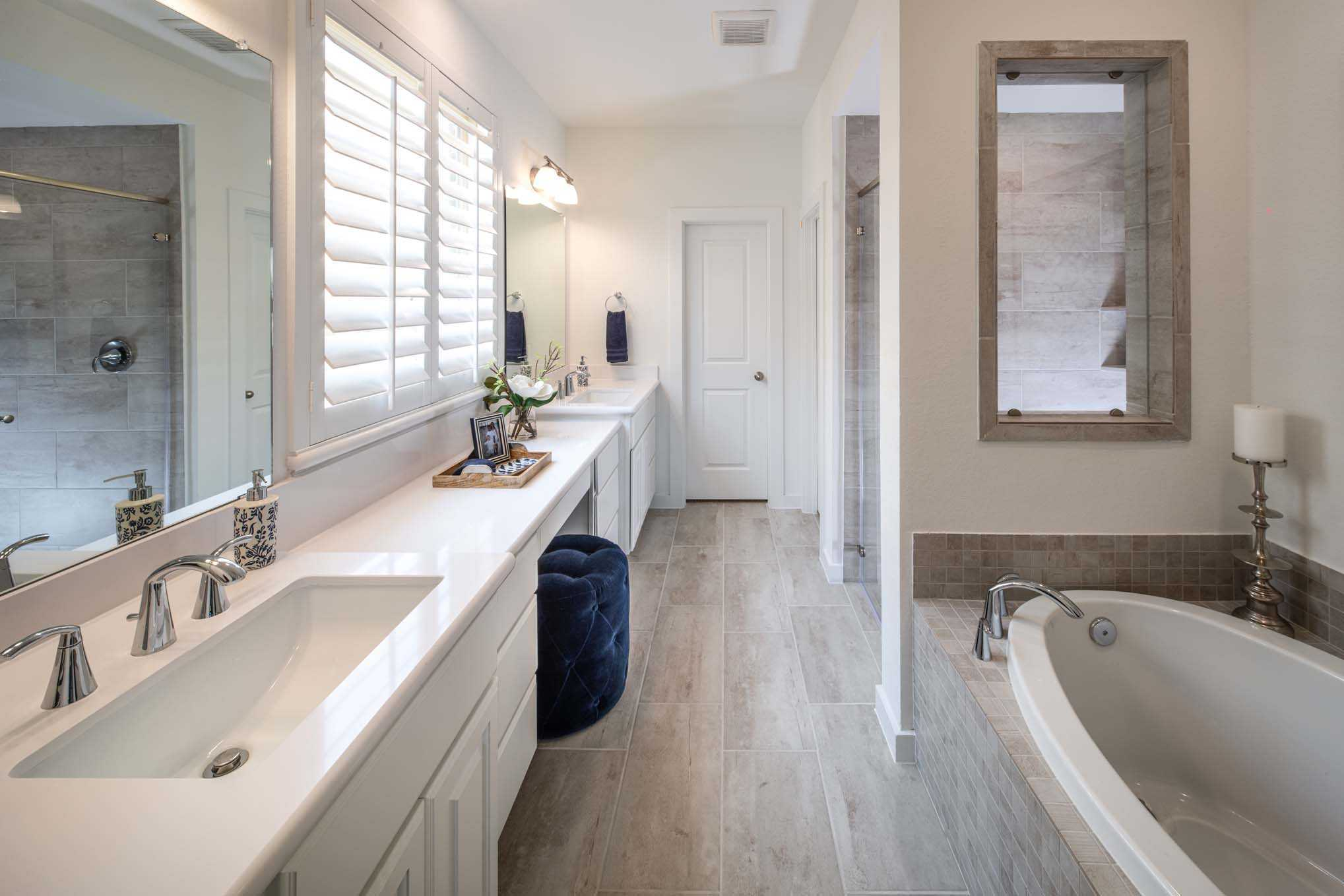 Bathroom featured in the Plan 556H By Highland Homes in Dallas, TX