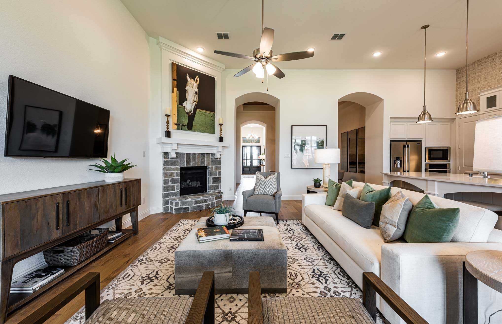 Living Area featured in the Plan 274 By Highland Homes in San Antonio, TX