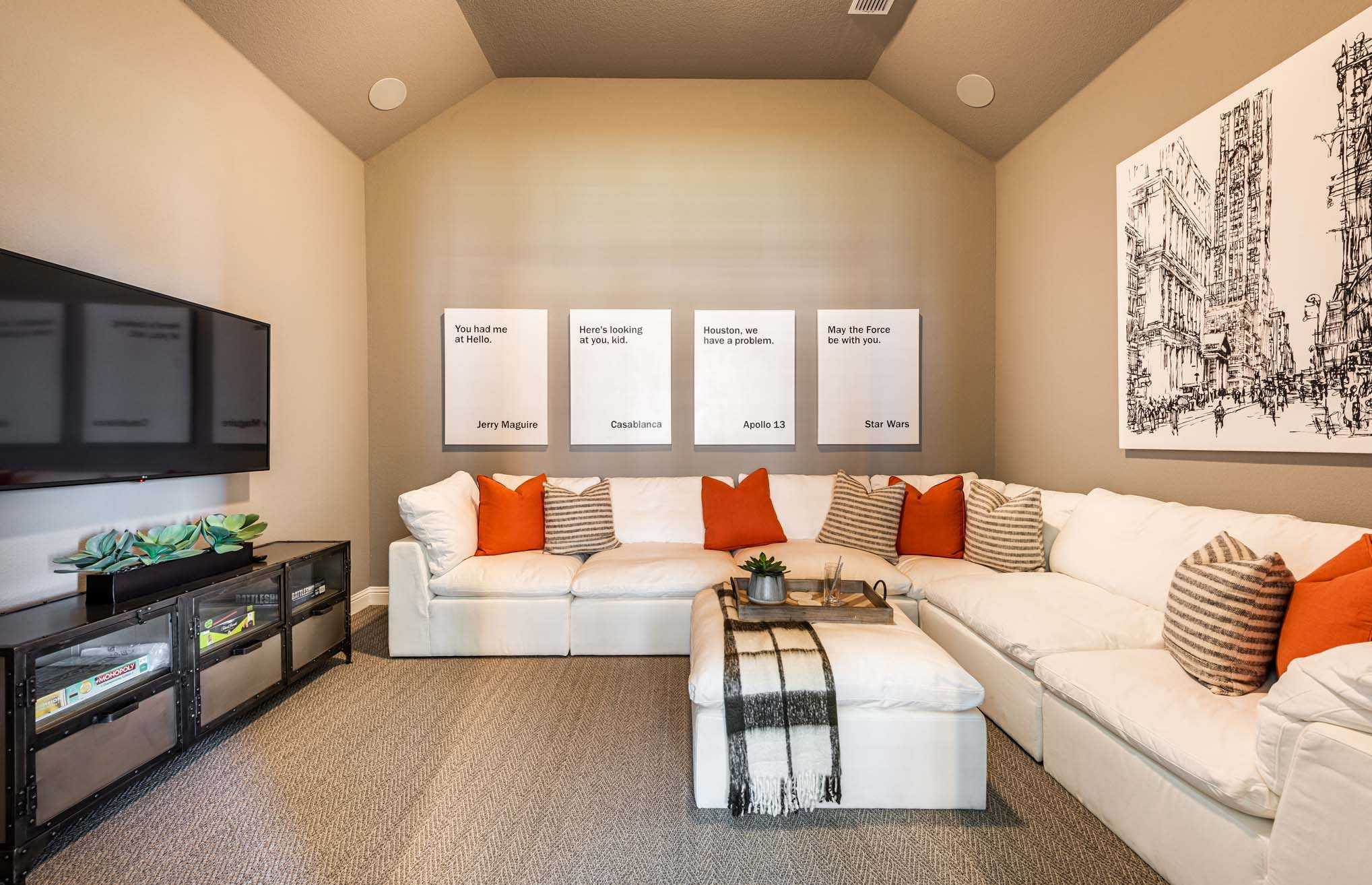Living Area featured in the Plan 274 By Highland Homes in Houston, TX