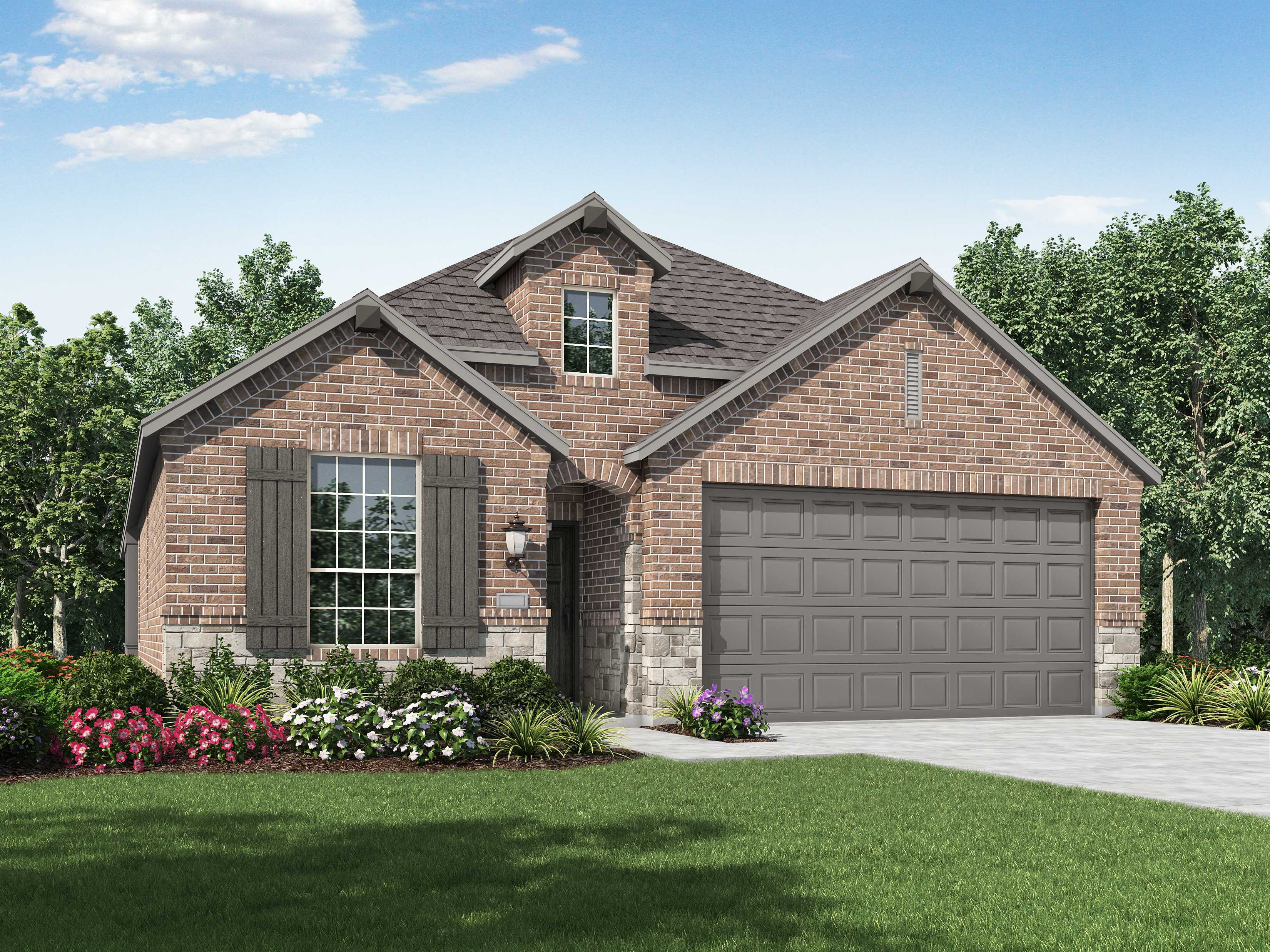 Exterior featured in the Plan Bentley By Highland Homes in Dallas, TX