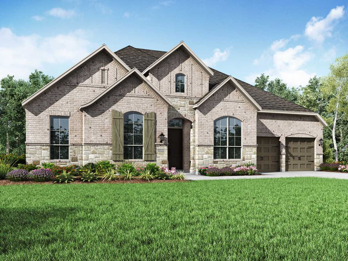 Exterior featured in the Plan 274 By Highland Homes in San Antonio, TX