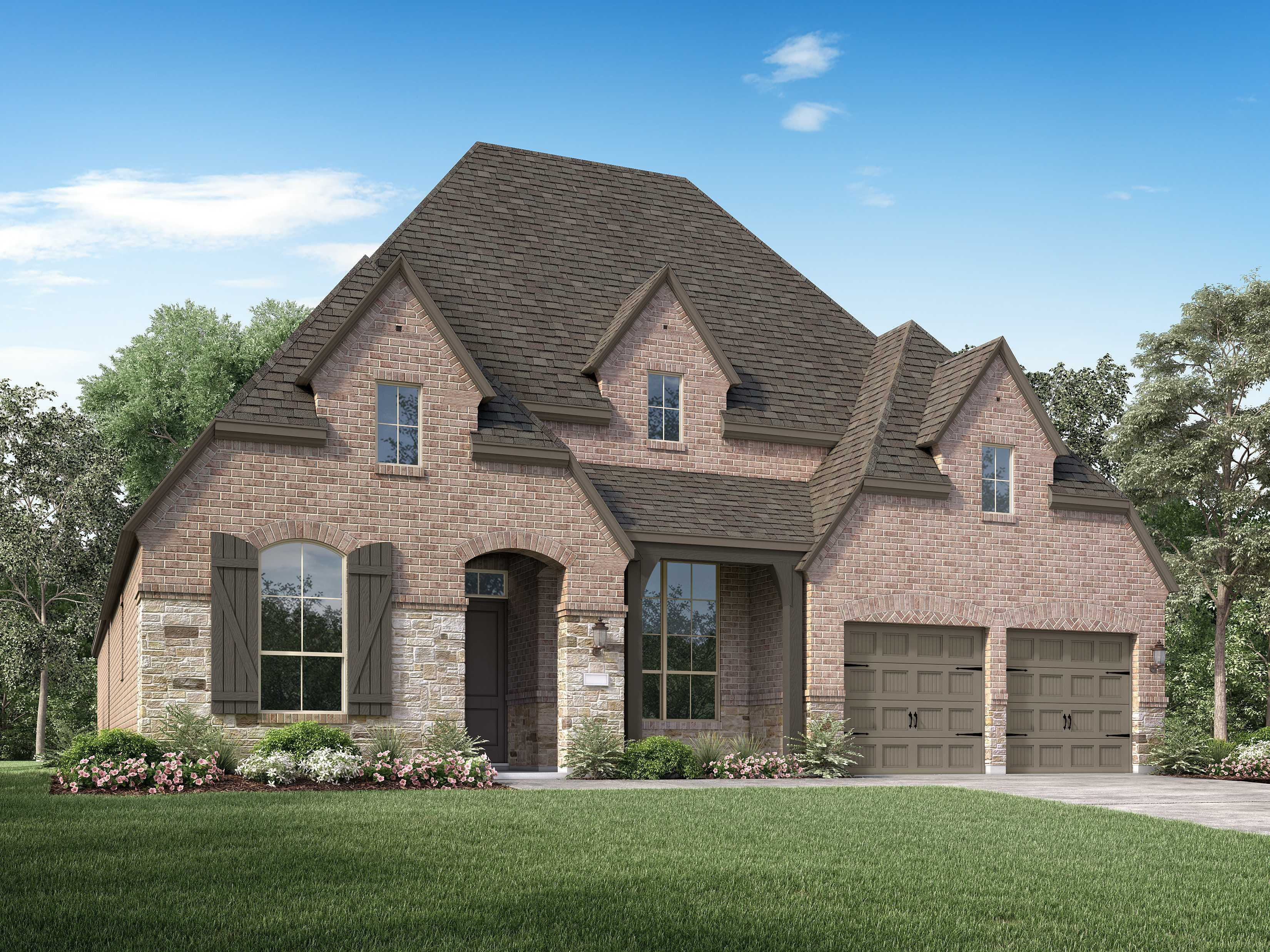 Exterior featured in the Plan 213 By Highland Homes in San Antonio, TX