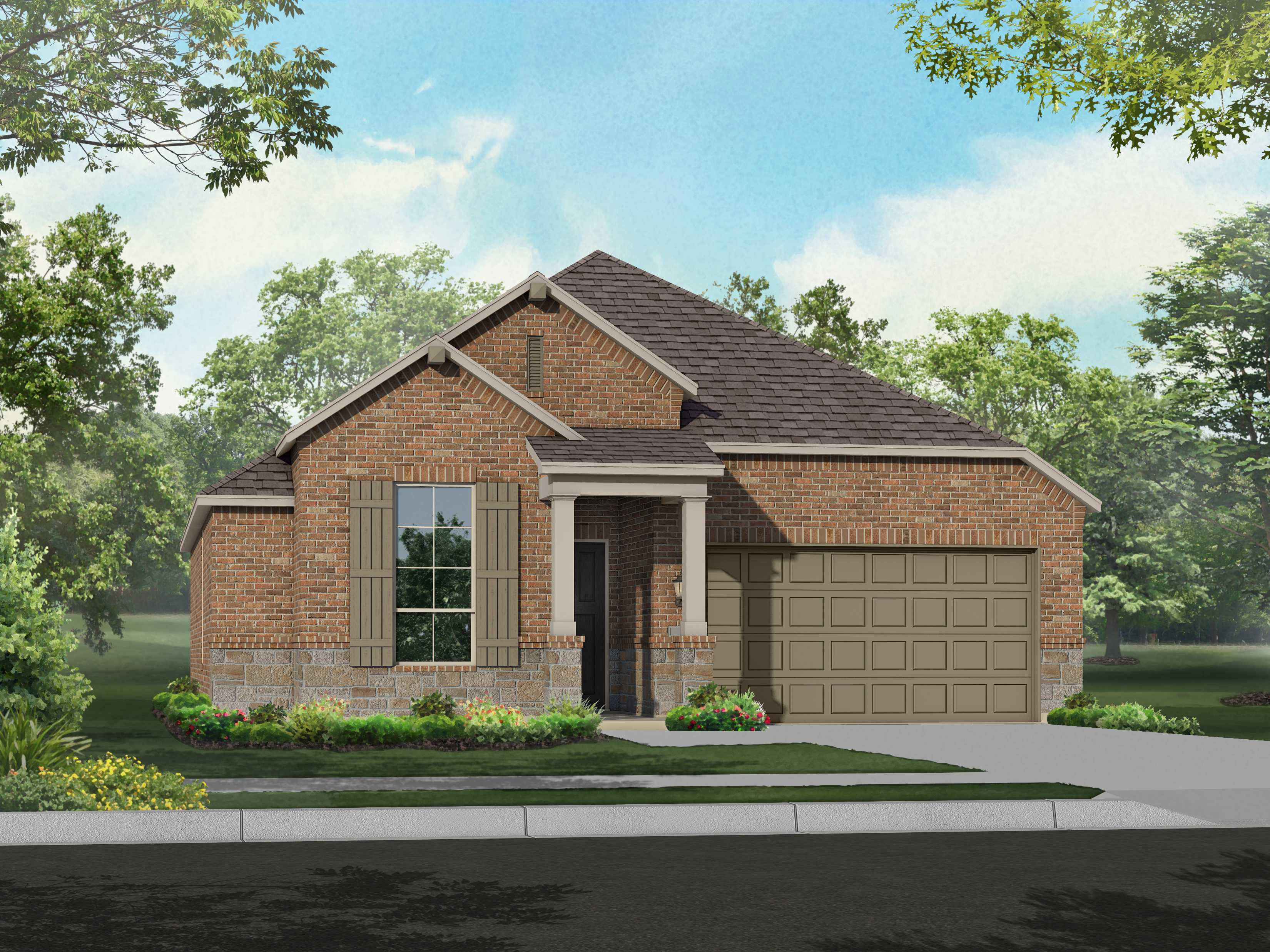 Exterior featured in the Plan Camden By Highland Homes in San Antonio, TX