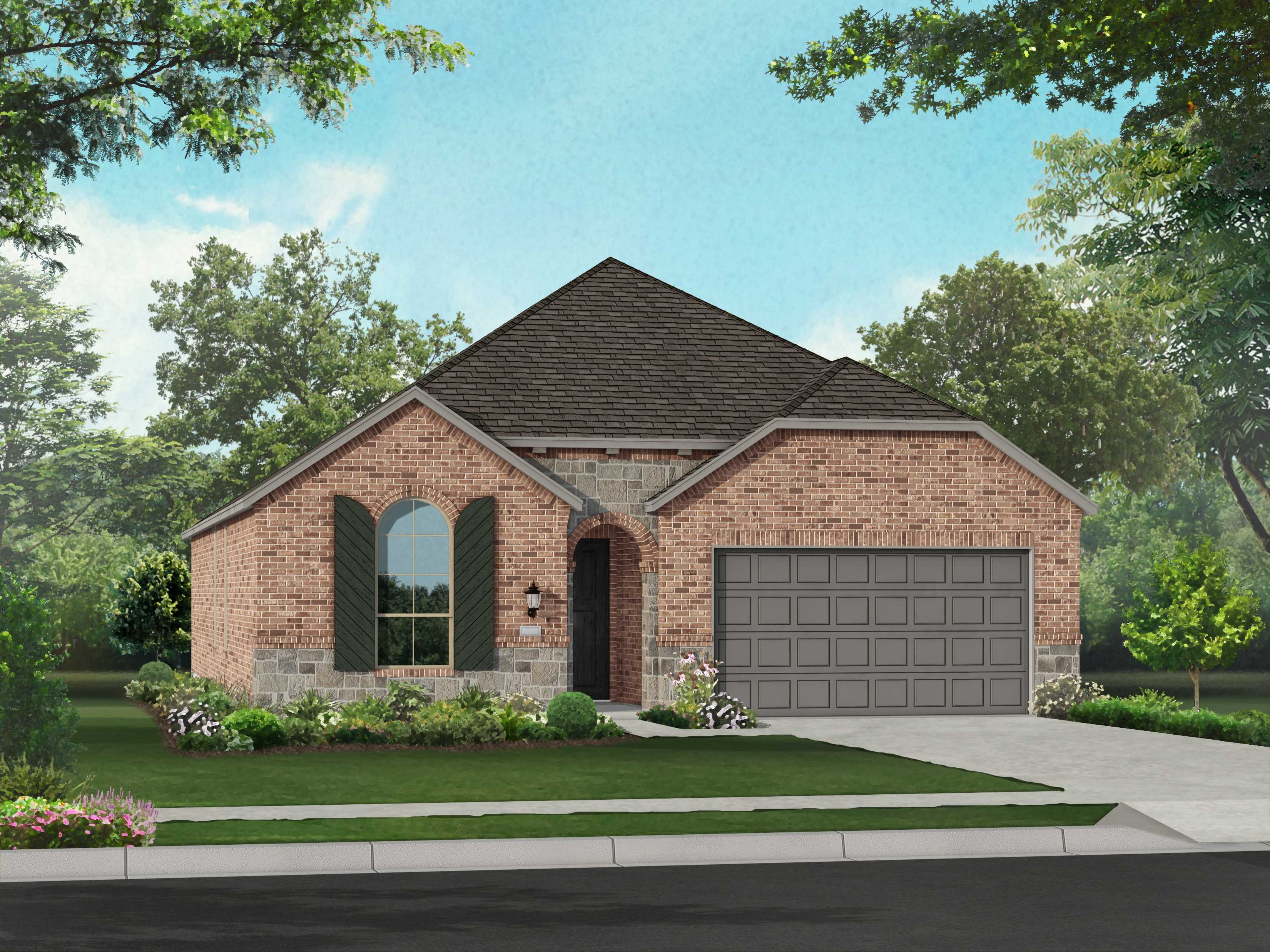 Exterior featured in the Plan Ashwood By Highland Homes in Dallas, TX