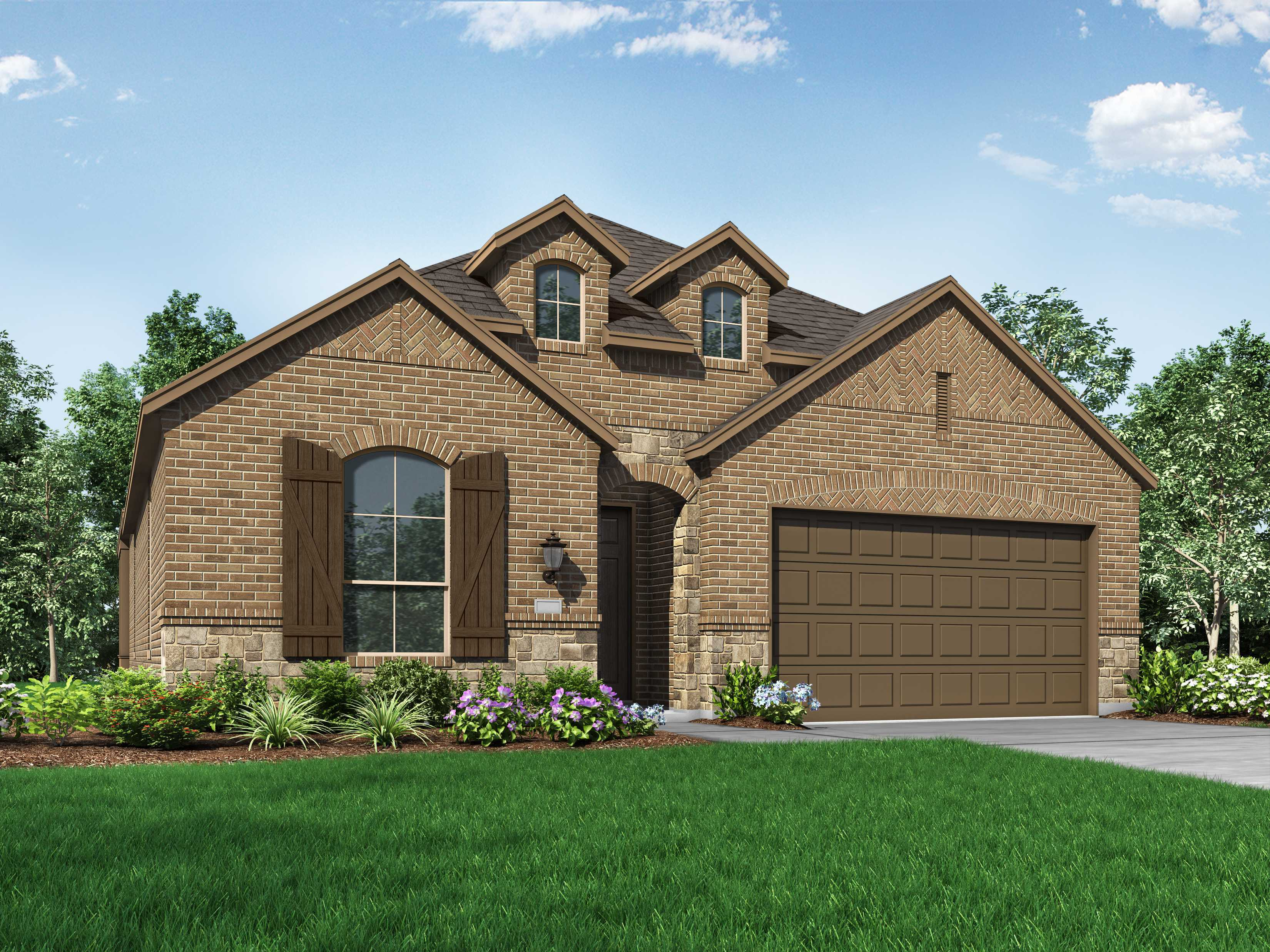 Exterior featured in the Plan Davenport By Highland Homes in Houston, TX