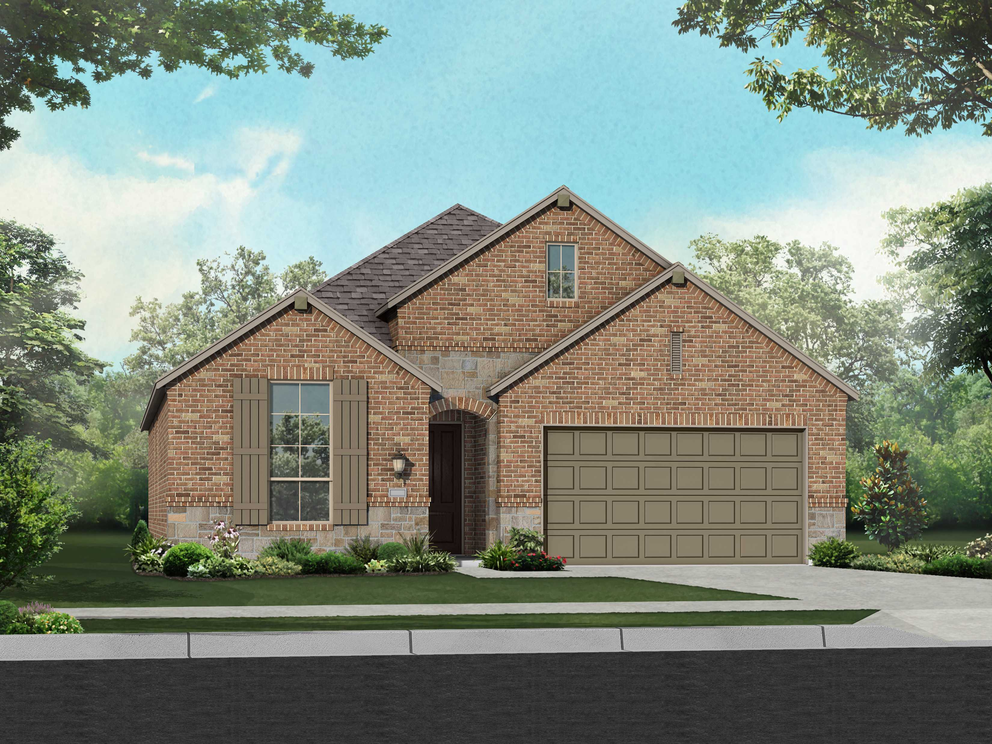 Exterior featured in the Plan Glenhurst By Highland Homes in Dallas, TX