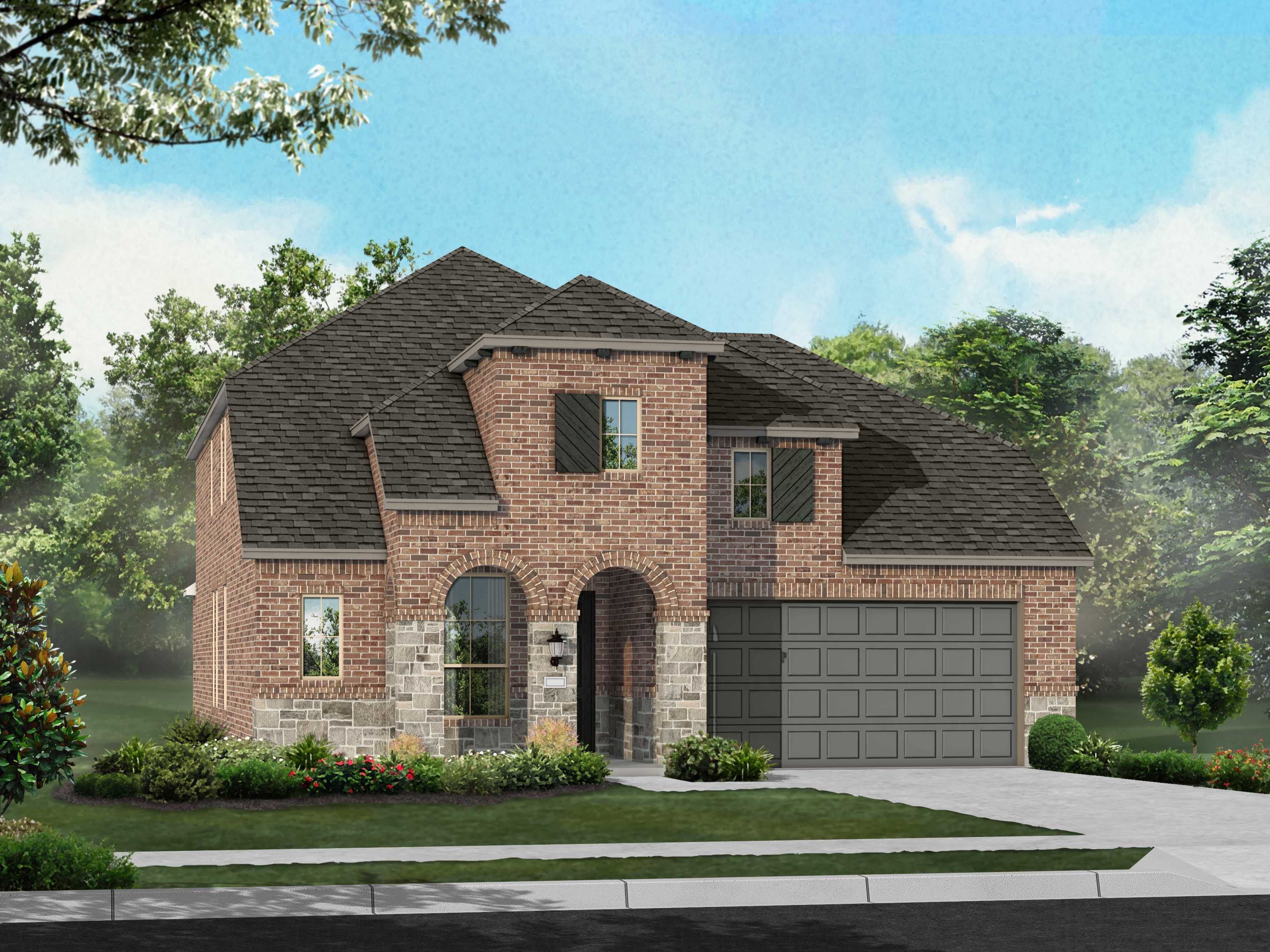 Exterior featured in the Plan Wakefield By Highland Homes in Dallas, TX