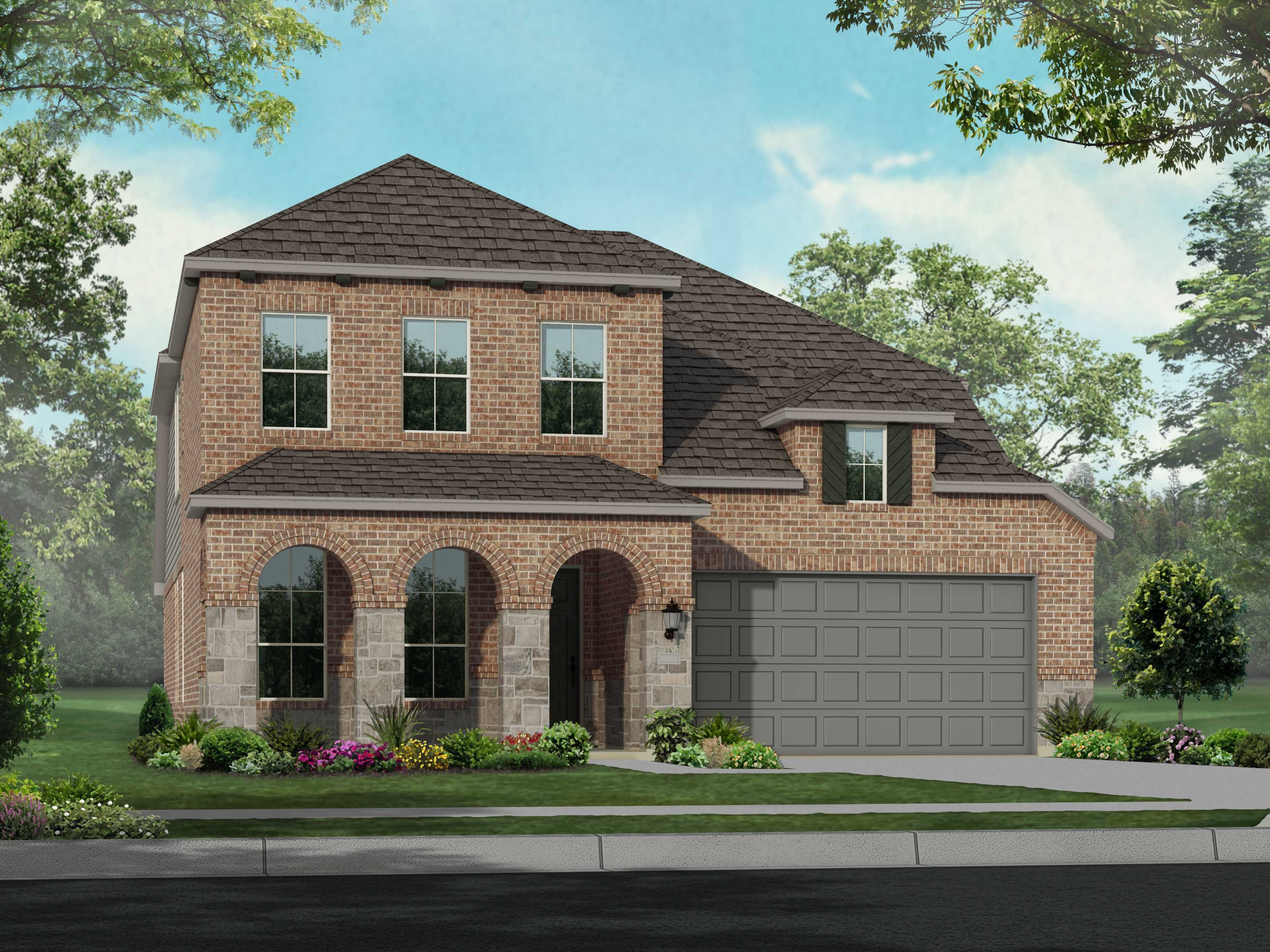 Exterior featured in the Plan Waverley By Highland Homes in Dallas, TX