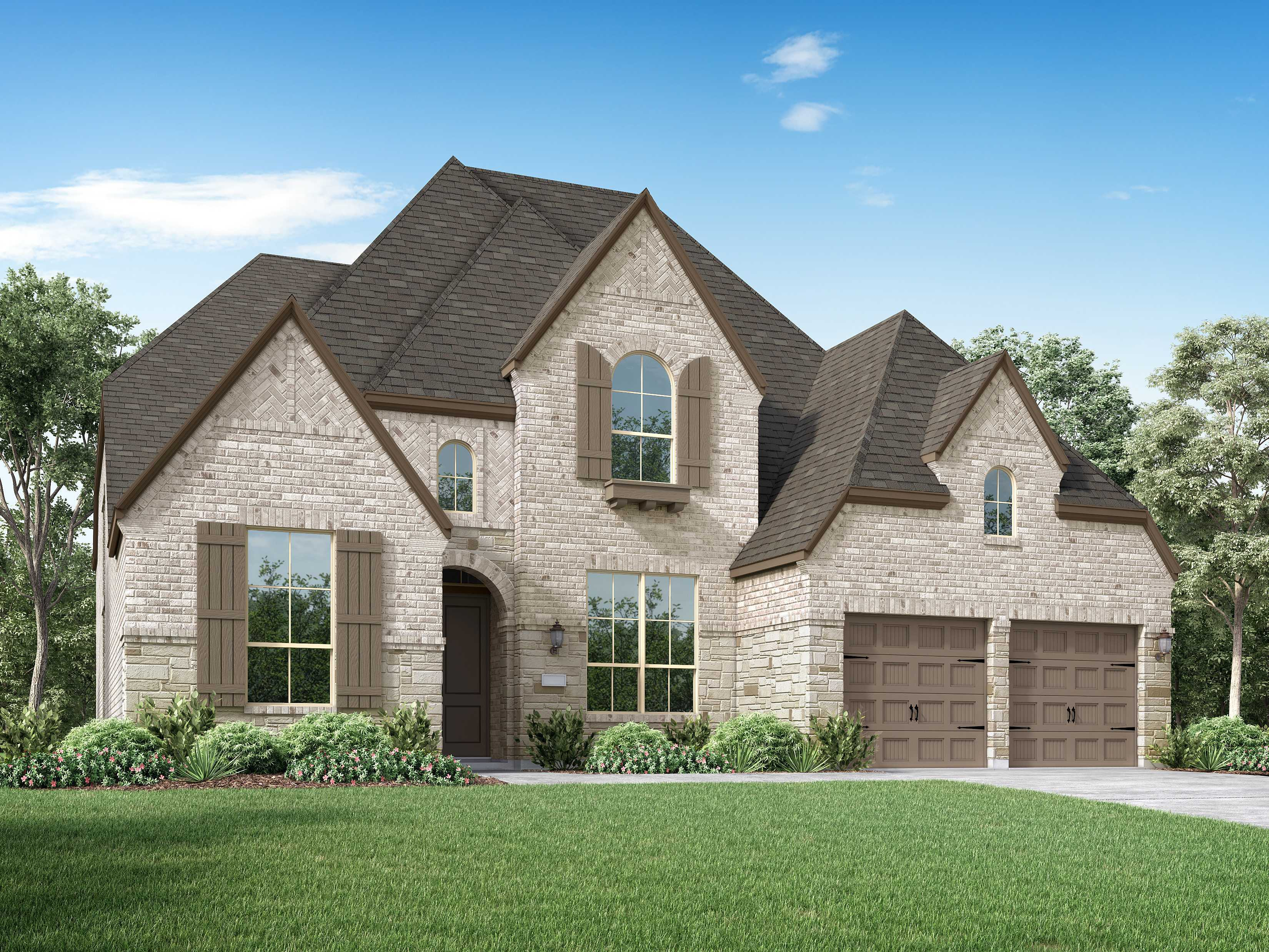 Exterior featured in the Plan 221 By Highland Homes in Dallas, TX