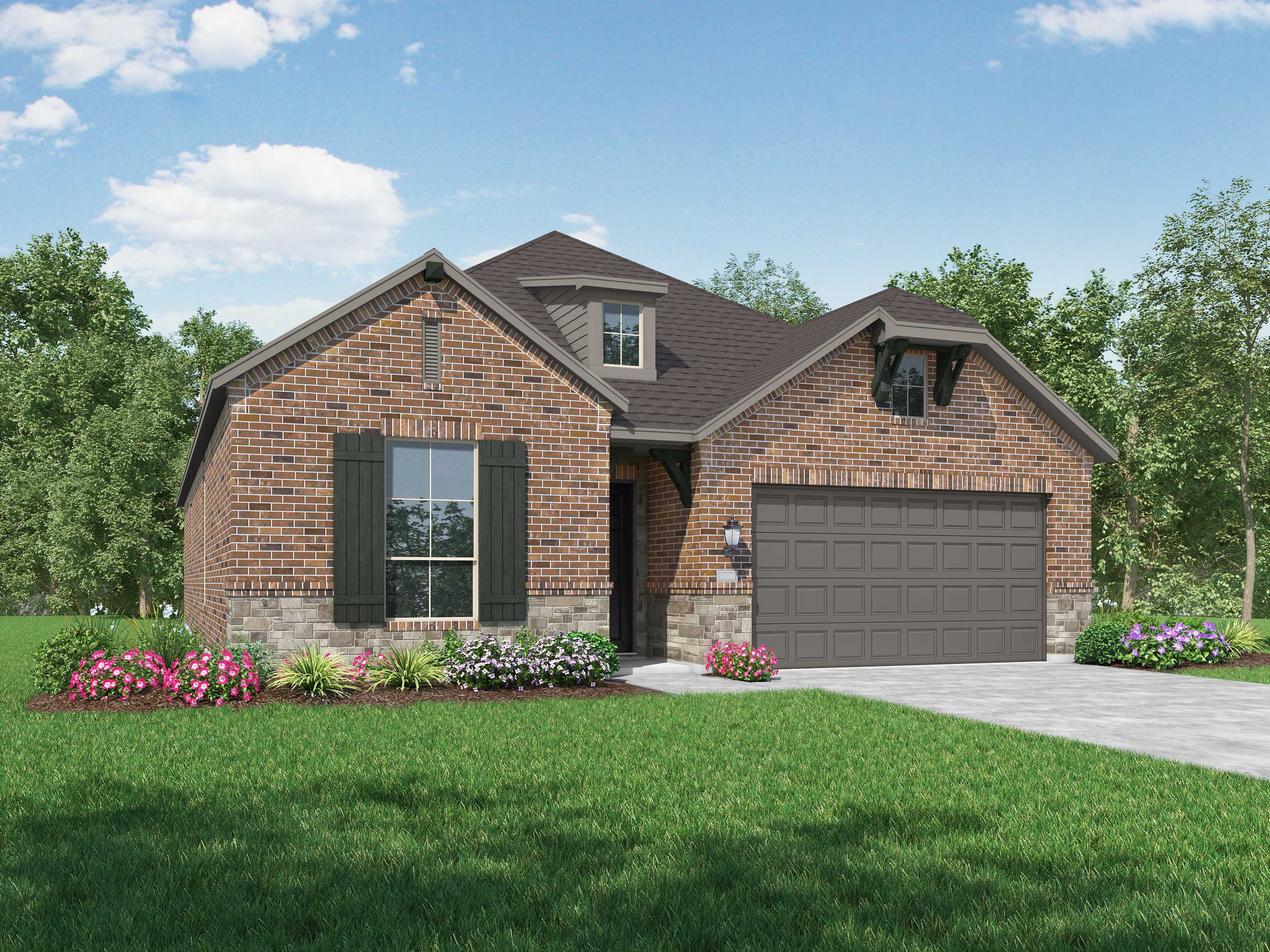 Exterior featured in the Plan Denton By Highland Homes in San Antonio, TX