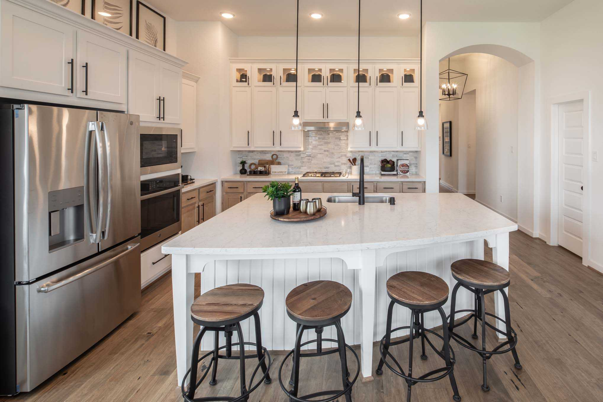 Kitchen featured in the Plan Davenport By Highland Homes in San Antonio, TX