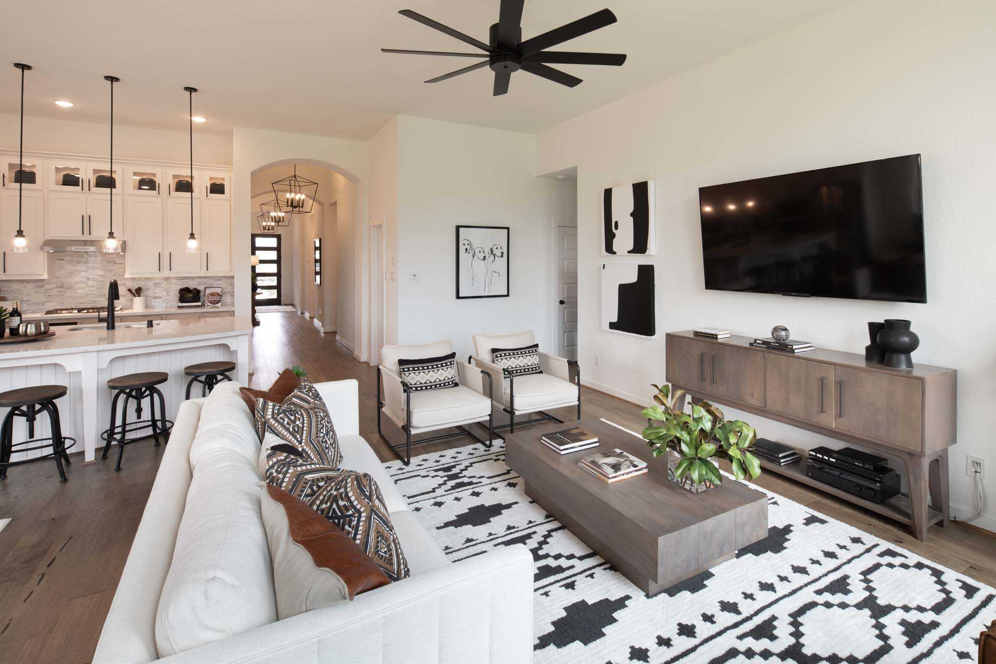 Living Area featured in the Plan Davenport By Highland Homes in San Antonio, TX