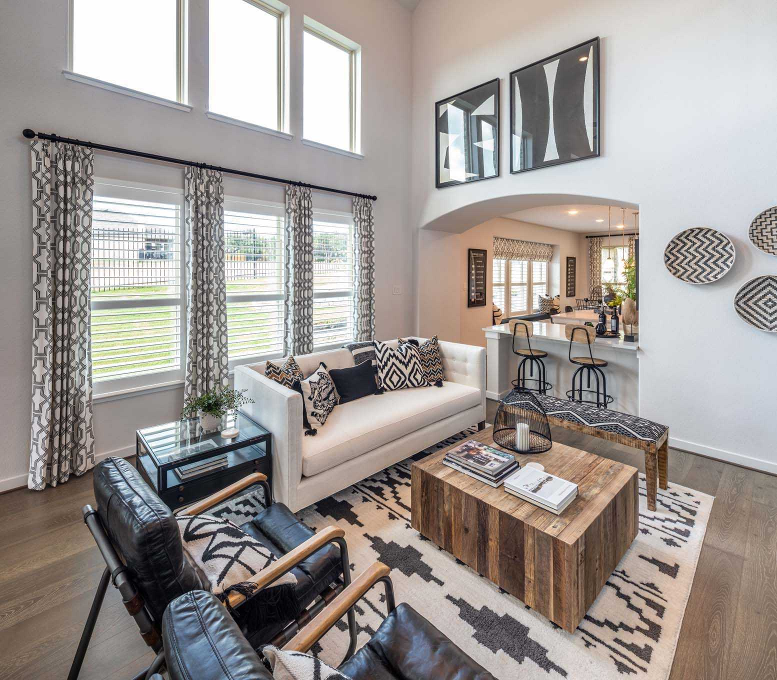 Living Area featured in the Plan Everleigh By Highland Homes in Houston, TX
