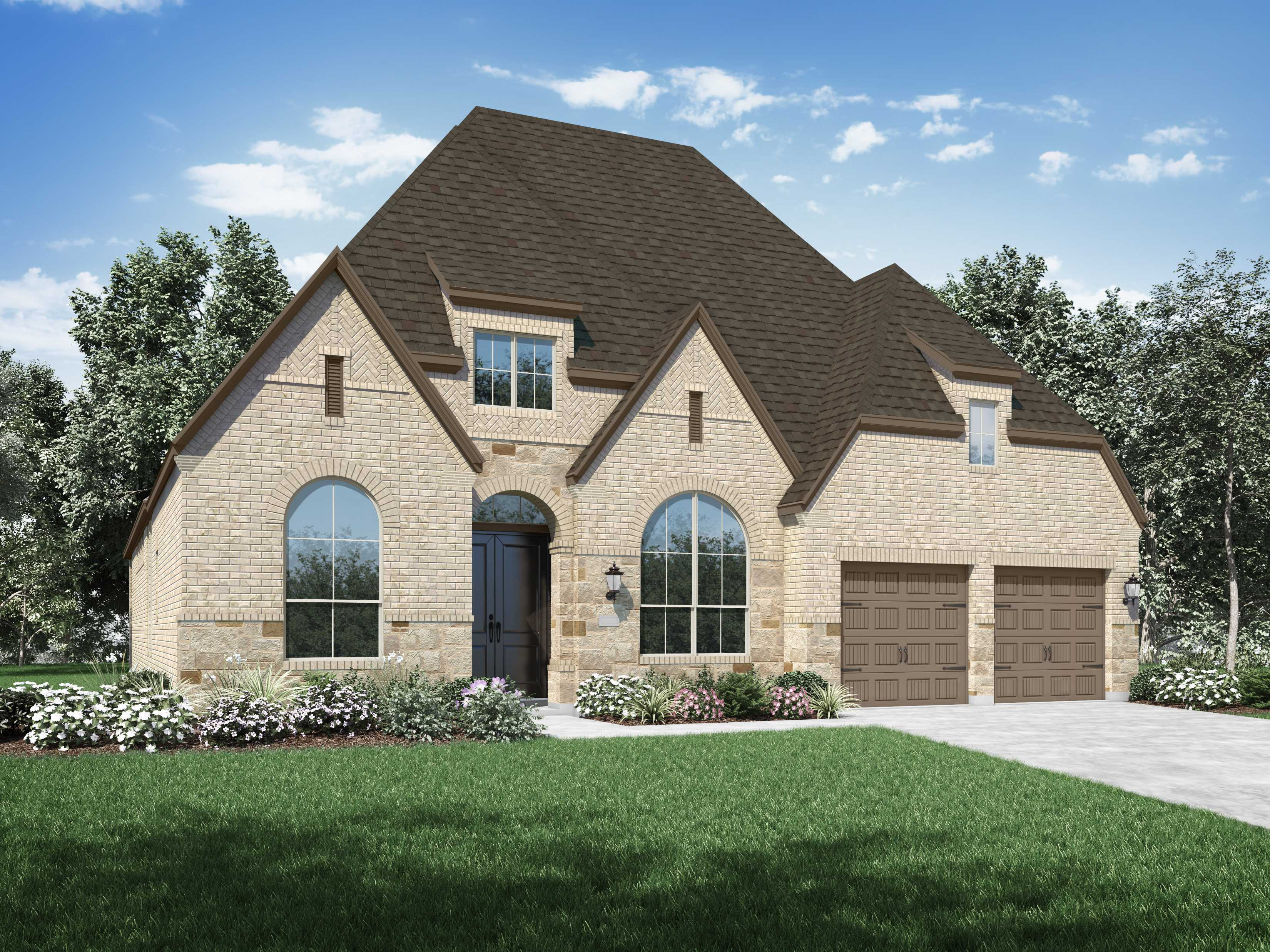 Exterior featured in the Plan 215 By Highland Homes in San Antonio, TX