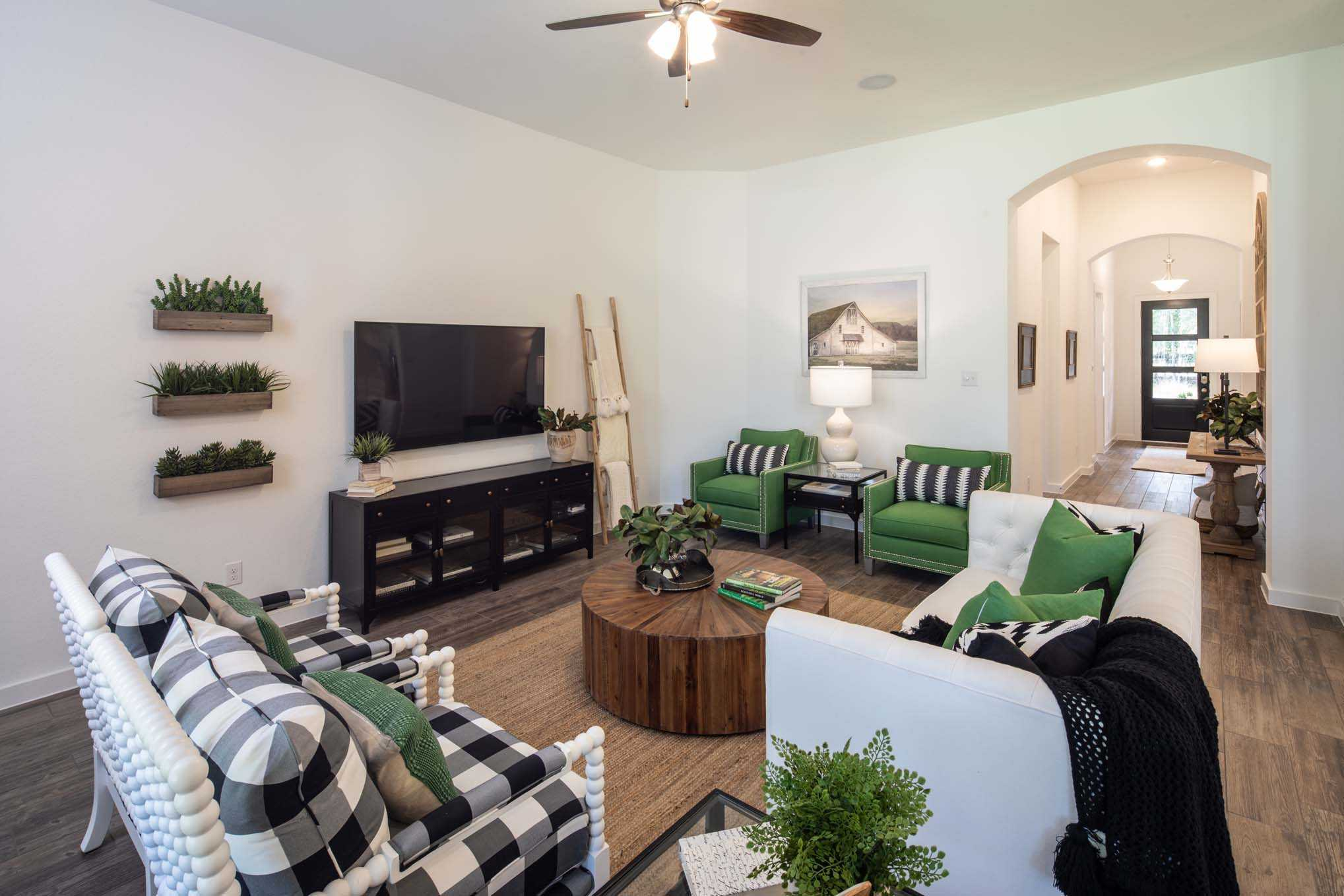 Living Area featured in the Plan Amberley By Highland Homes in San Antonio, TX