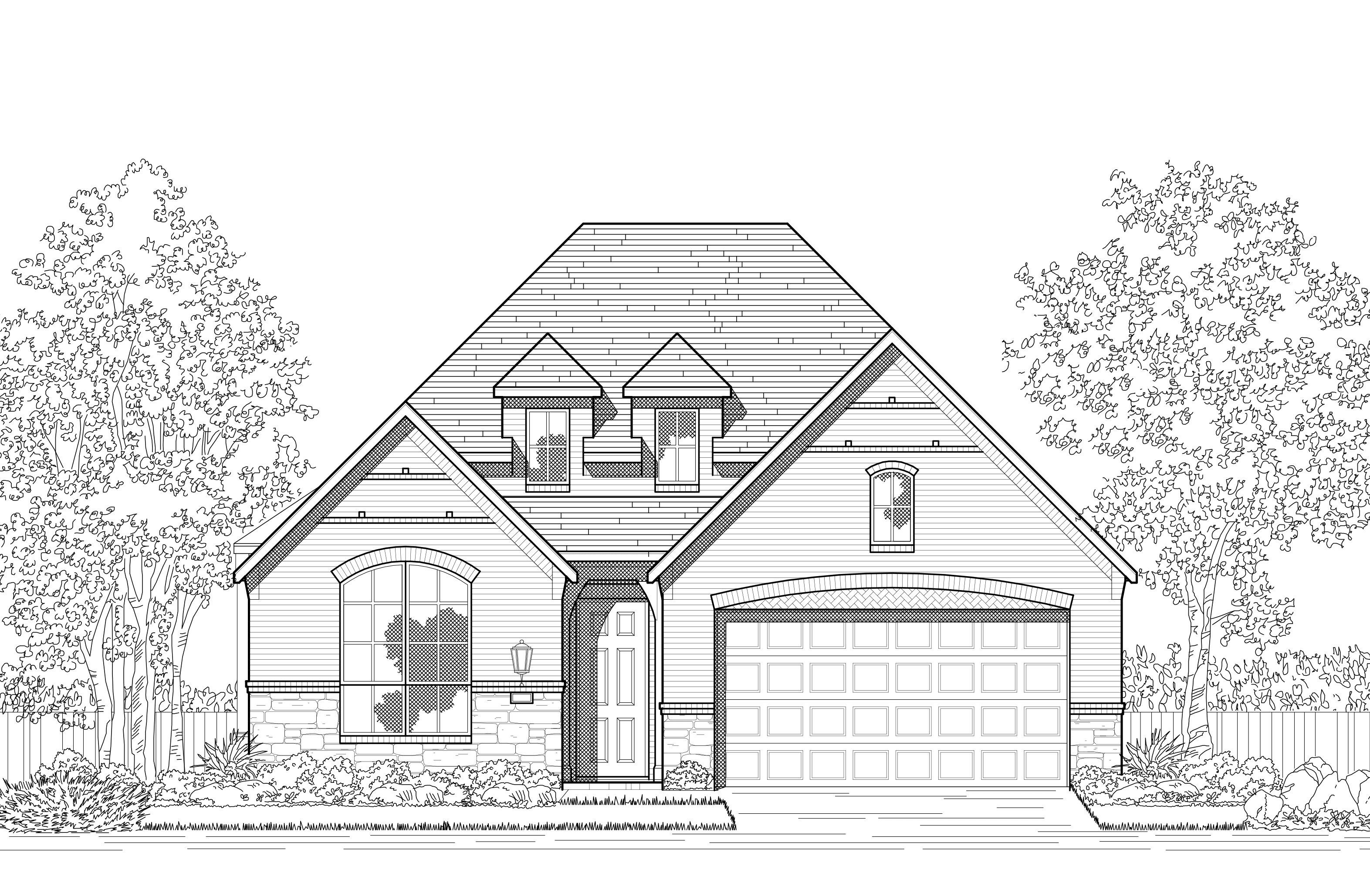 Exterior featured in the Plan Davenport By Highland Homes in San Antonio, TX